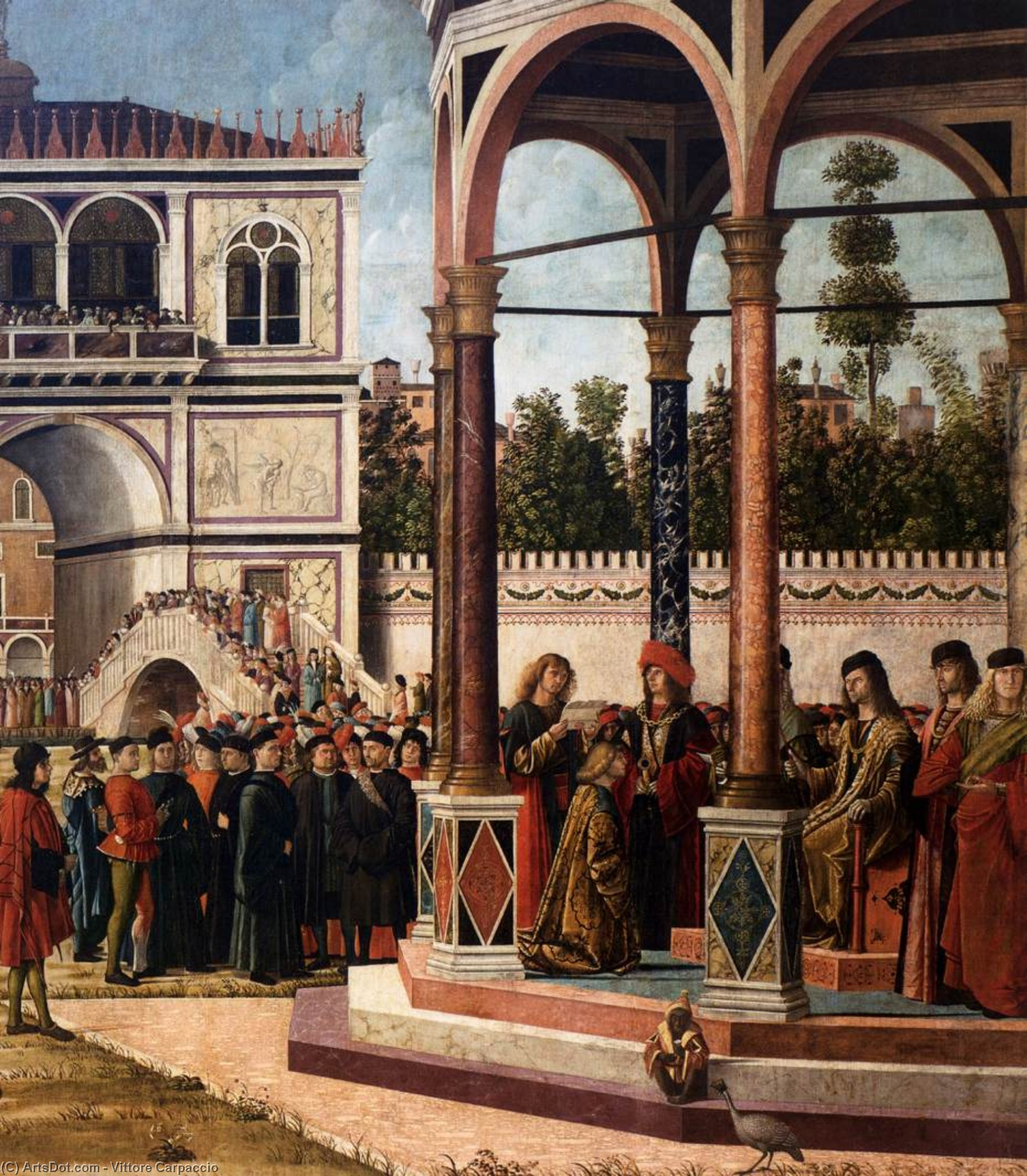 Wikioo.org - The Encyclopedia of Fine Arts - Painting, Artwork by Vittore Carpaccio - The Ambassadors Return to the English Court (detail)