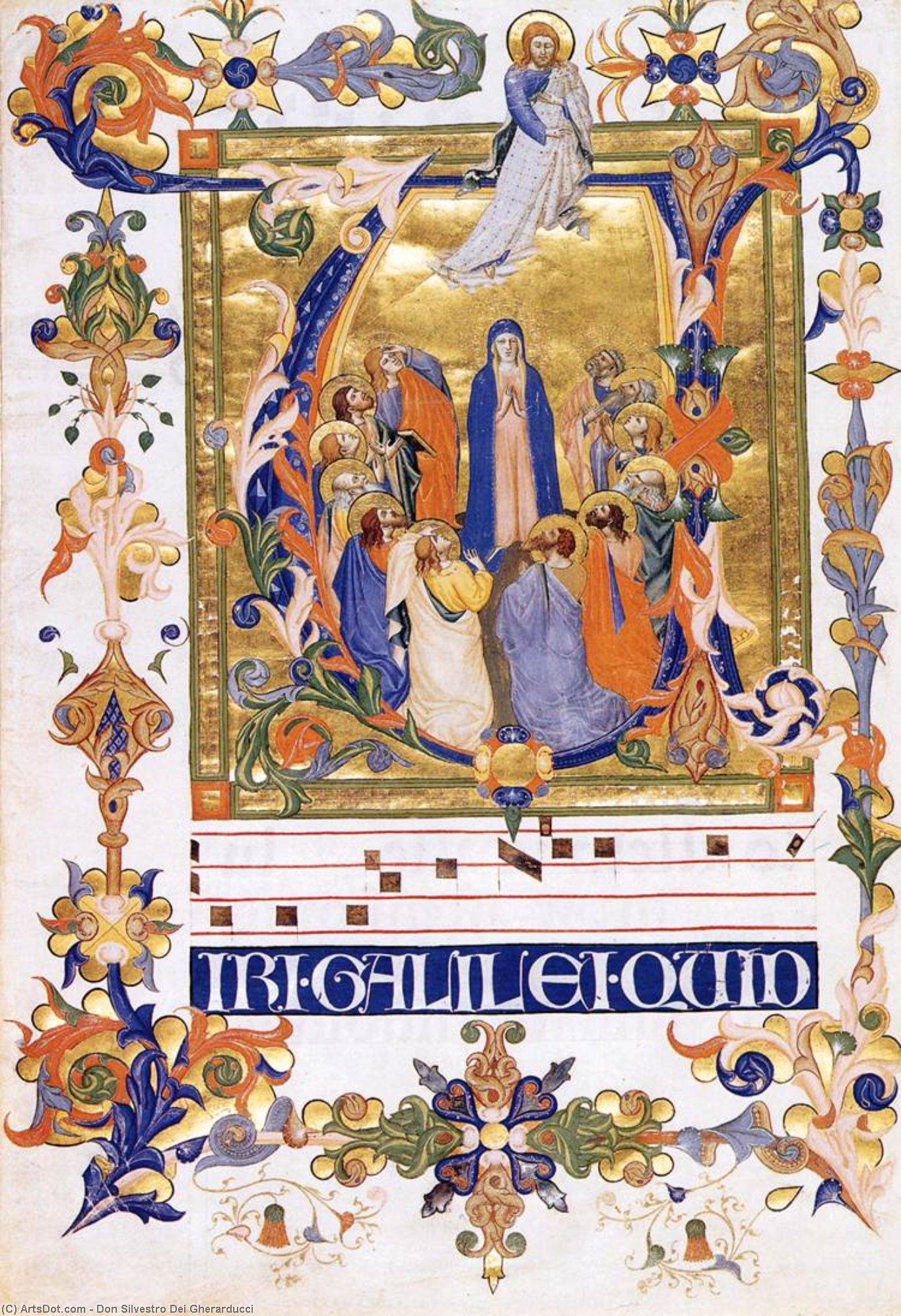 WikiOO.org - Enciklopedija dailės - Tapyba, meno kuriniai Don Silvestro Dei Gherarducci - Gradual 2 for San Michele a Murano (Folio 44)