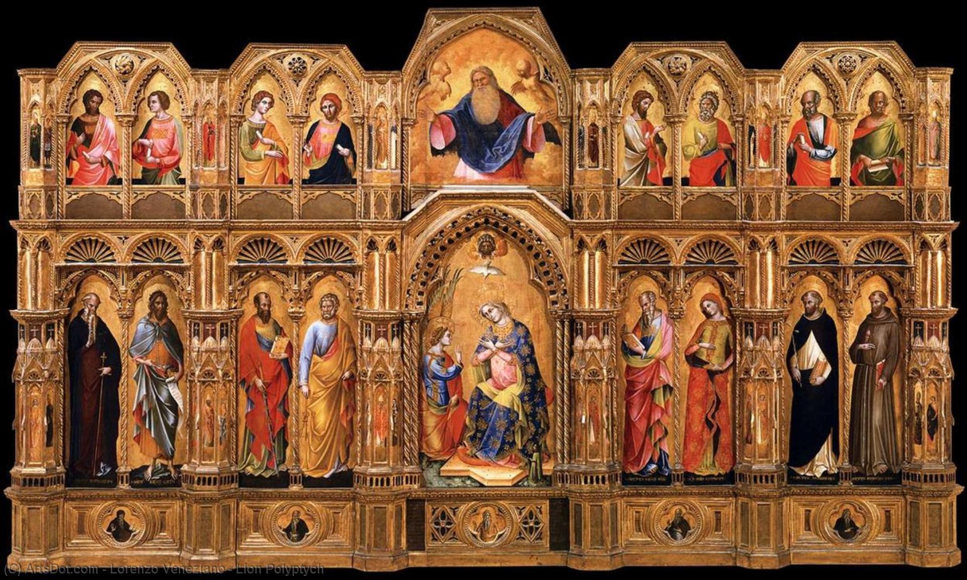 WikiOO.org - Enciklopedija dailės - Tapyba, meno kuriniai Lorenzo Veneziano - Lion Polyptych