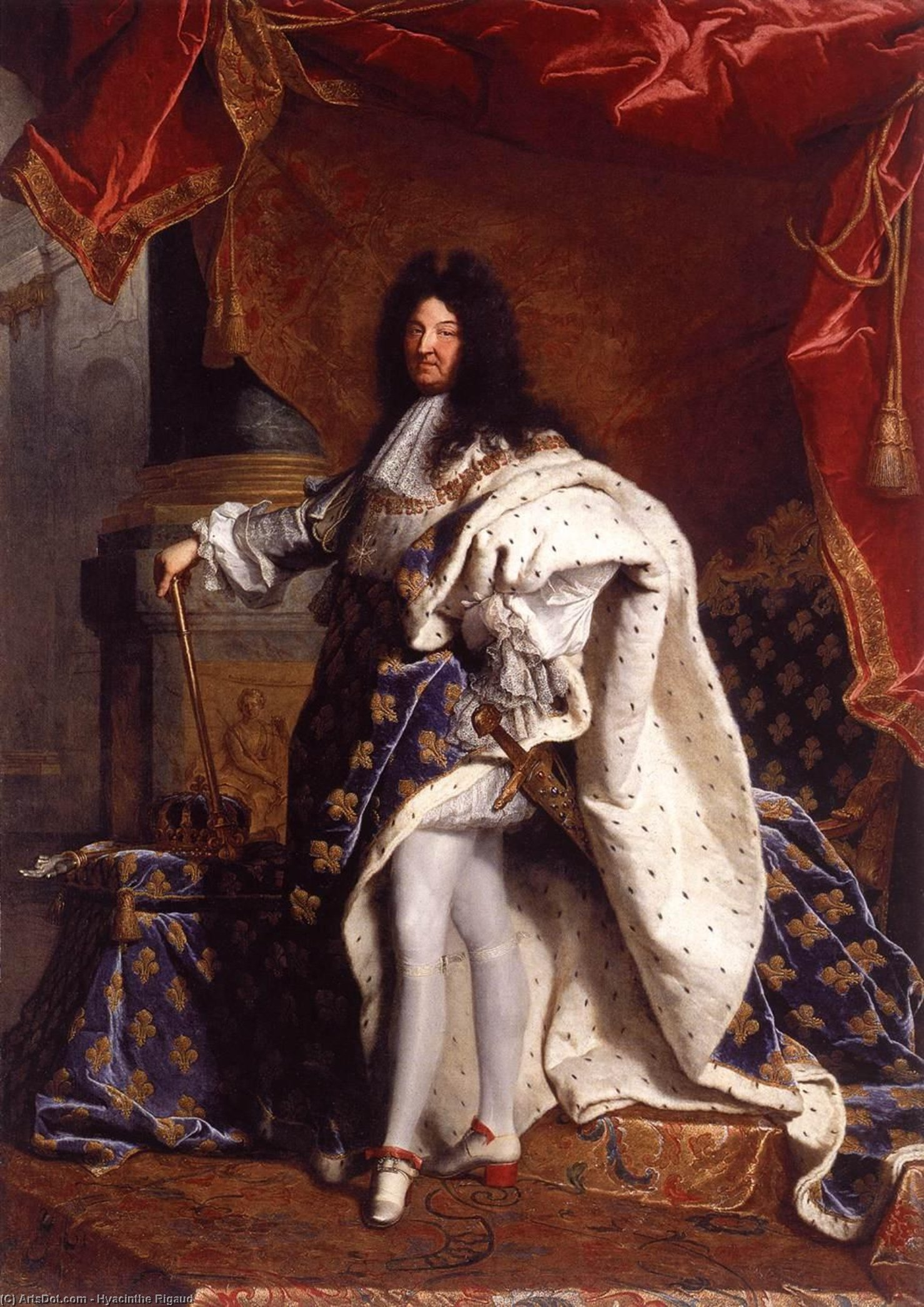 Wikioo.org - The Encyclopedia of Fine Arts - Painting, Artwork by Hyacinthe Rigaud - Portrait of Louis XIV