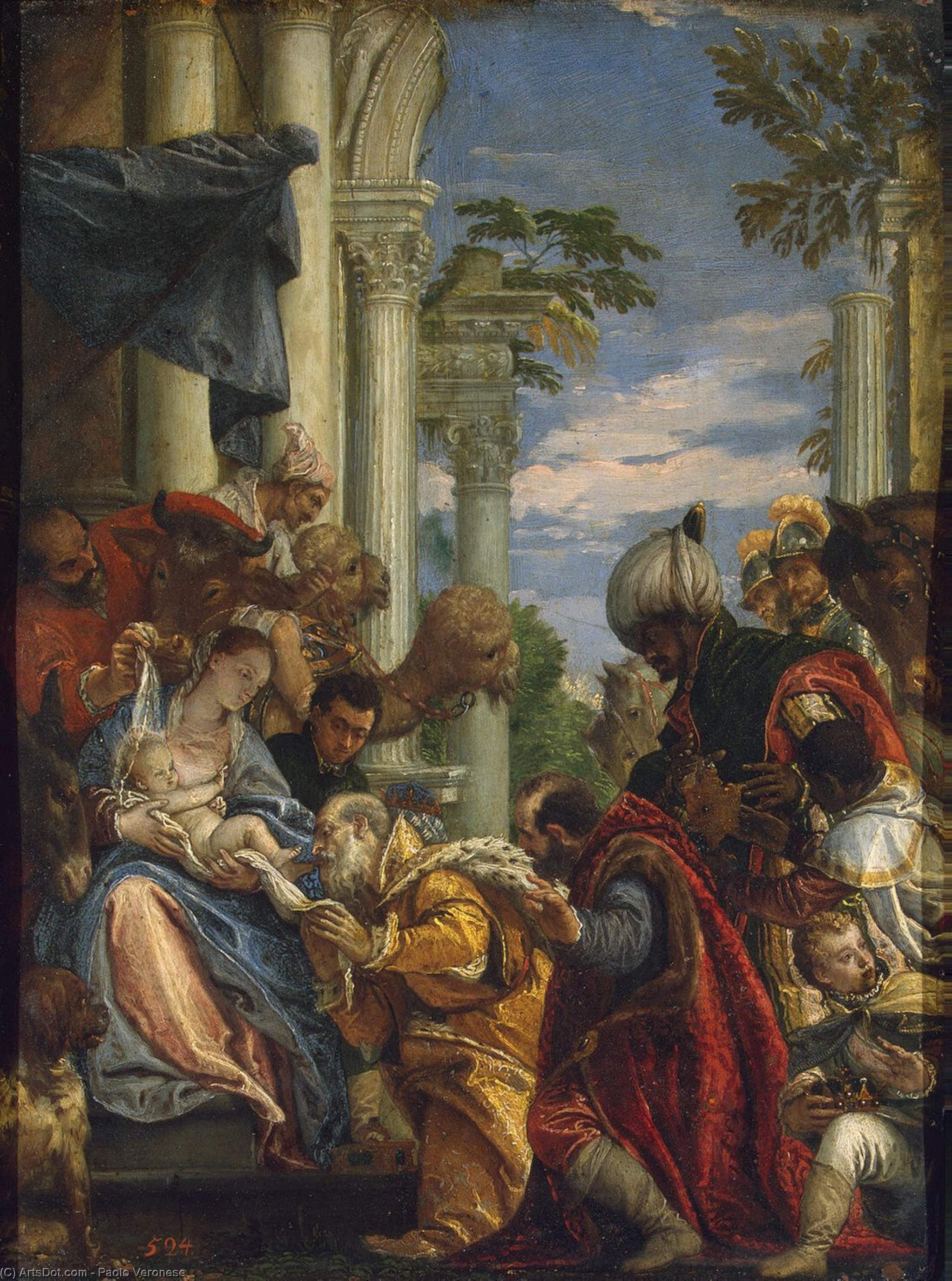 Wikioo.org - The Encyclopedia of Fine Arts - Painting, Artwork by Paolo Veronese - Adoration of the Magi