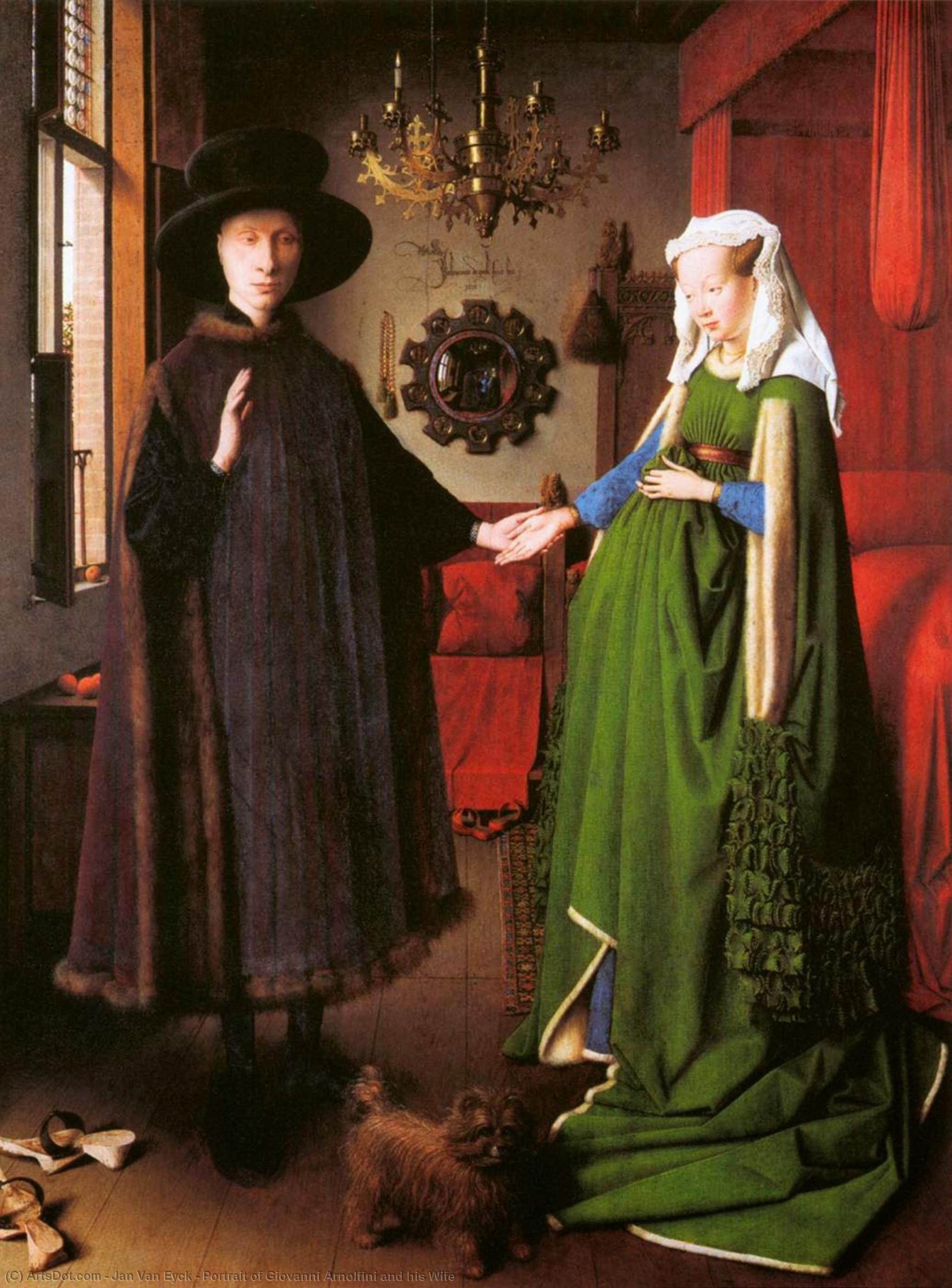 Wikioo.org - The Encyclopedia of Fine Arts - Painting, Artwork by Jan Van Eyck - Portrait of Giovanni Arnolfini and his Wife