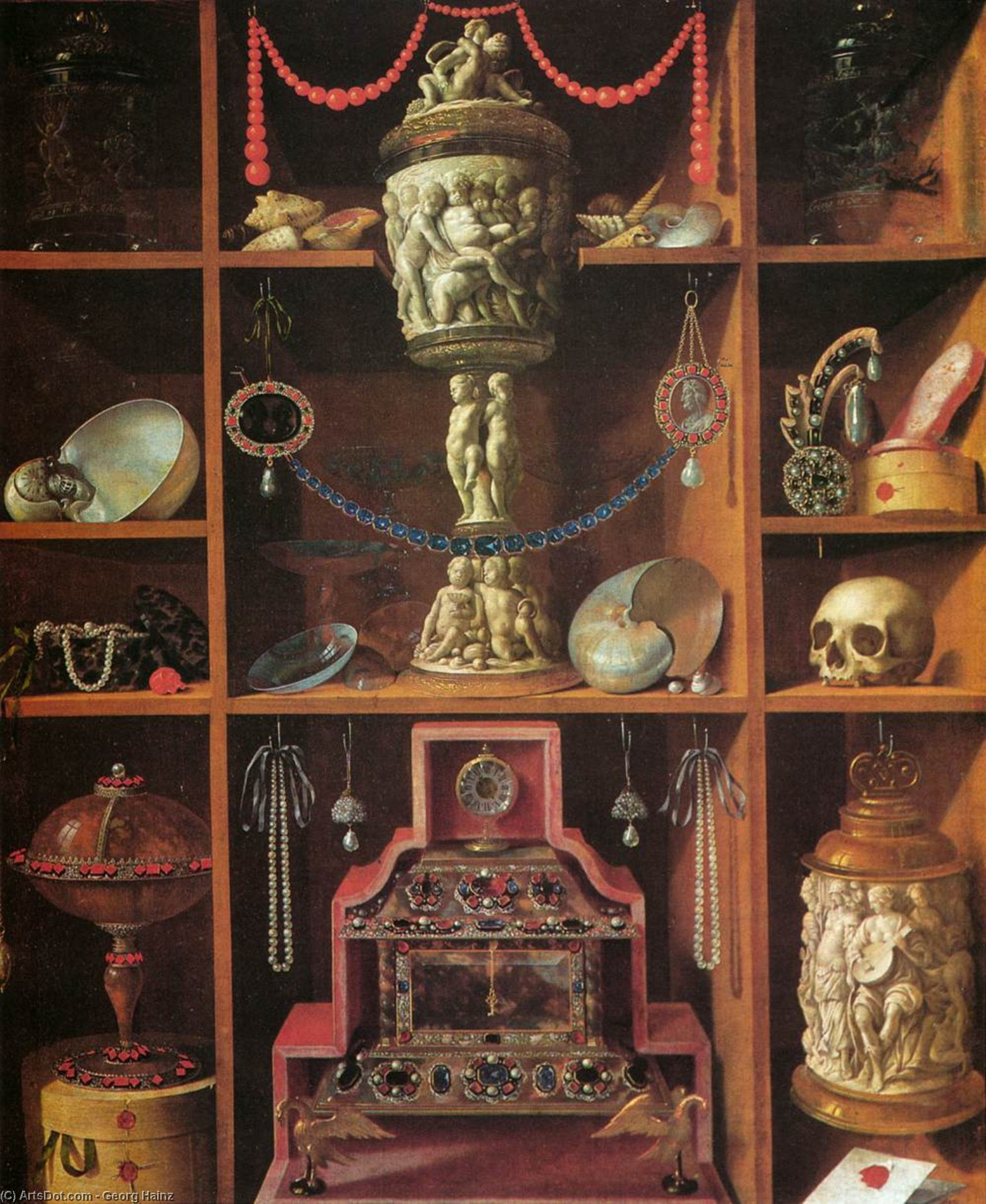 Wikioo.org - The Encyclopedia of Fine Arts - Painting, Artwork by Georg Hainz - Cabinets of Curiosities
