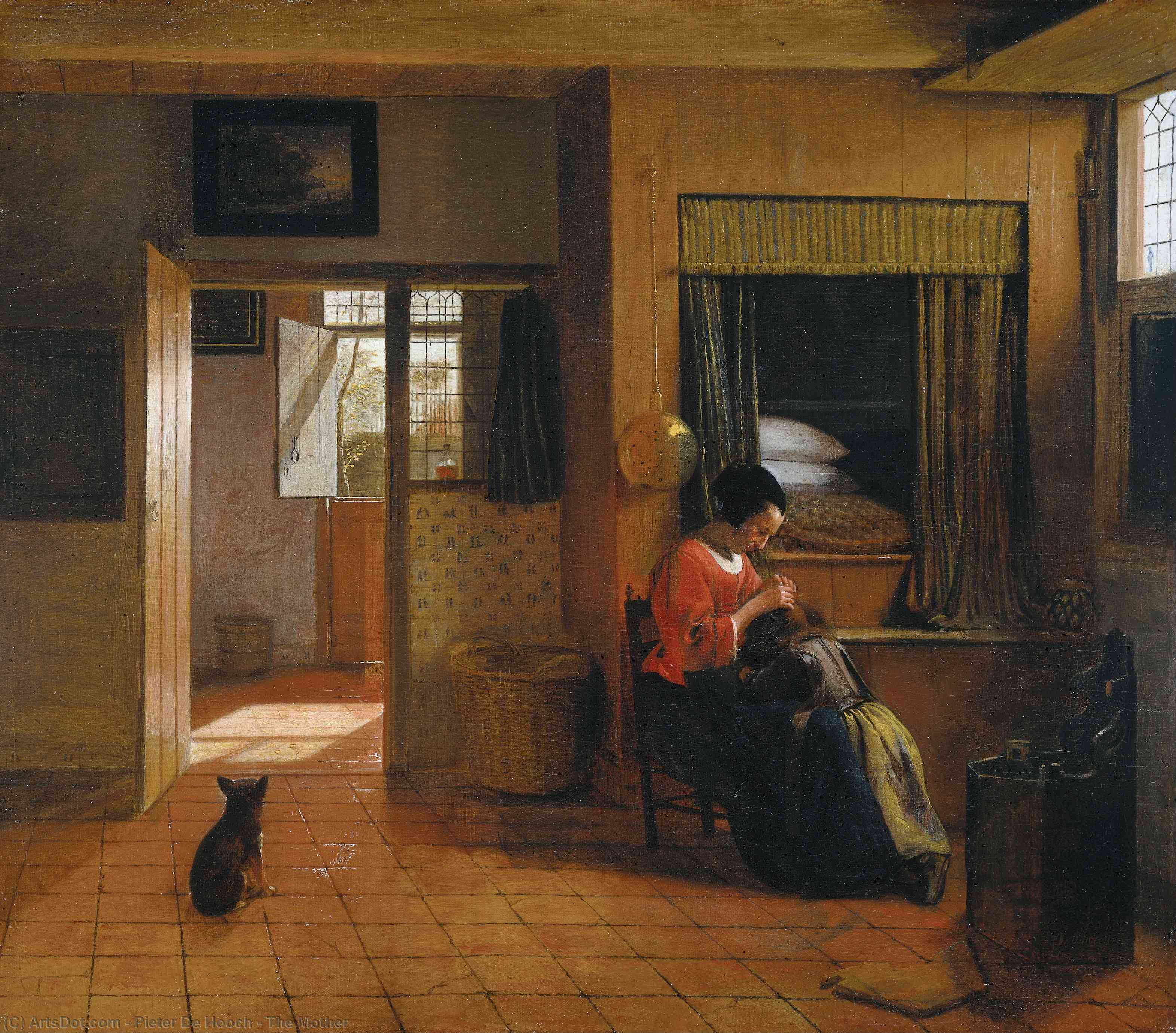 Wikioo.org - The Encyclopedia of Fine Arts - Painting, Artwork by Pieter De Hooch - The Mother