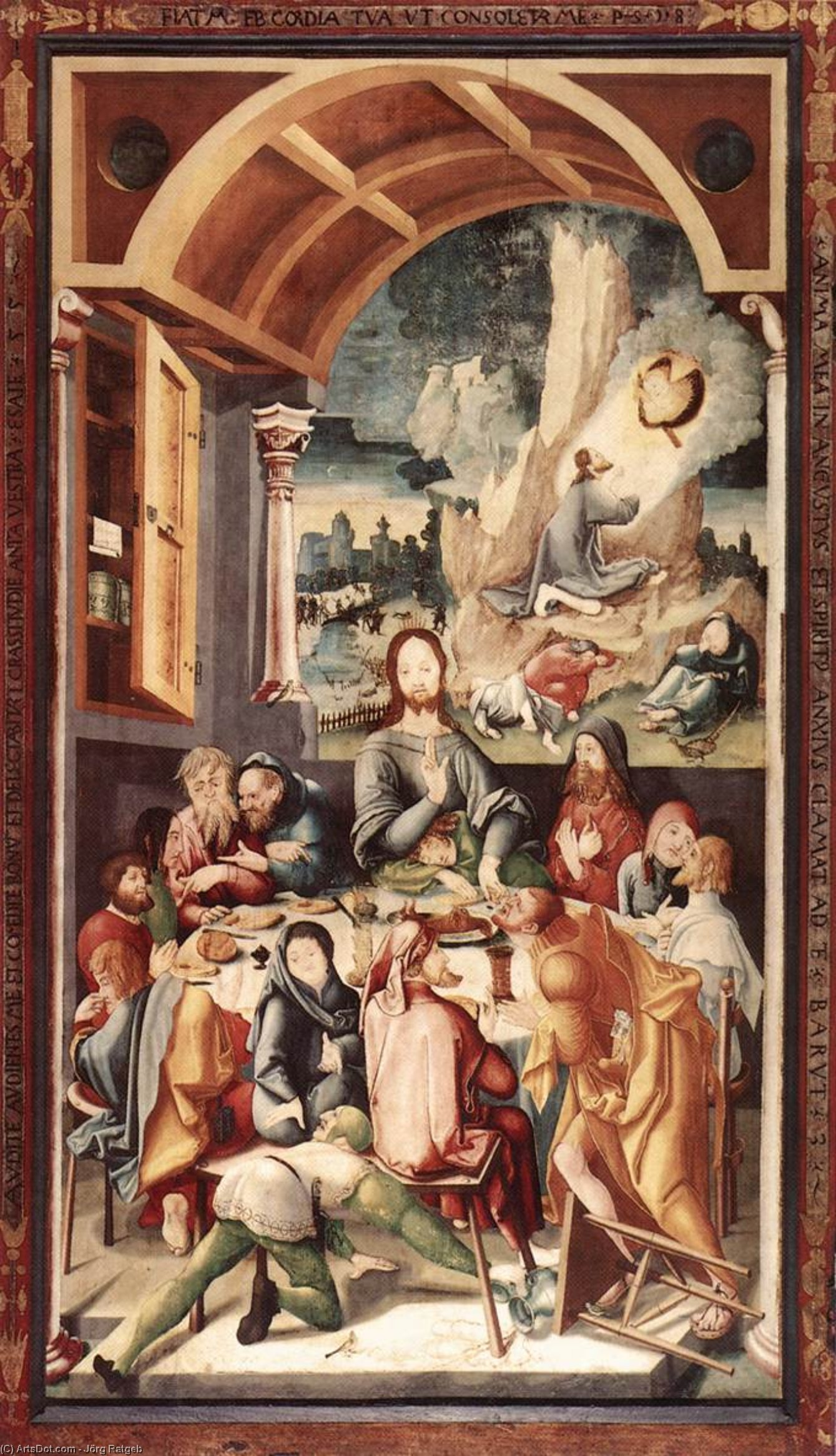 Wikioo.org - The Encyclopedia of Fine Arts - Painting, Artwork by Jörg Ratgeb - Last Supper