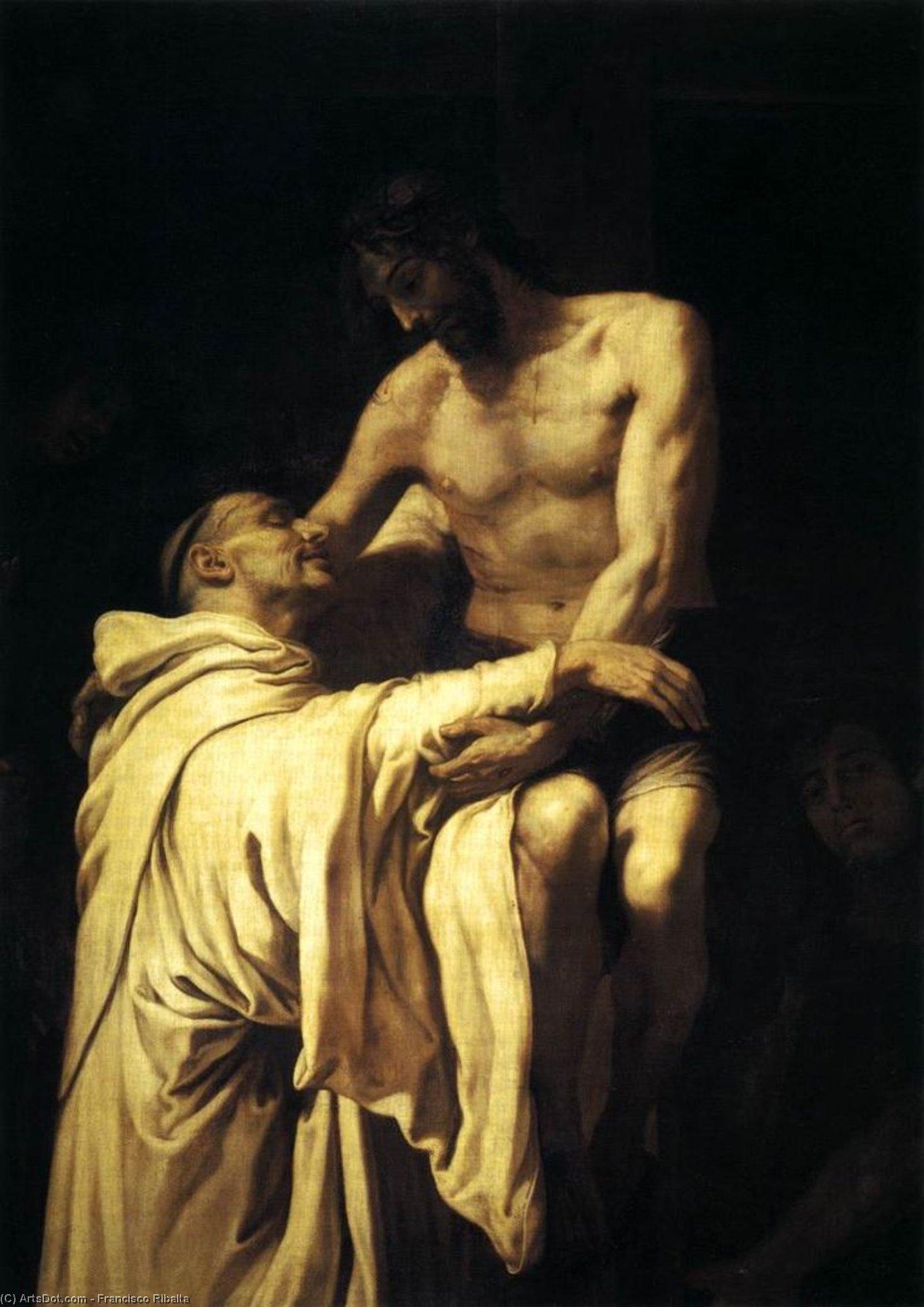 Wikioo.org - The Encyclopedia of Fine Arts - Painting, Artwork by Francisco Ribalta - Christ Embracing St Bernard