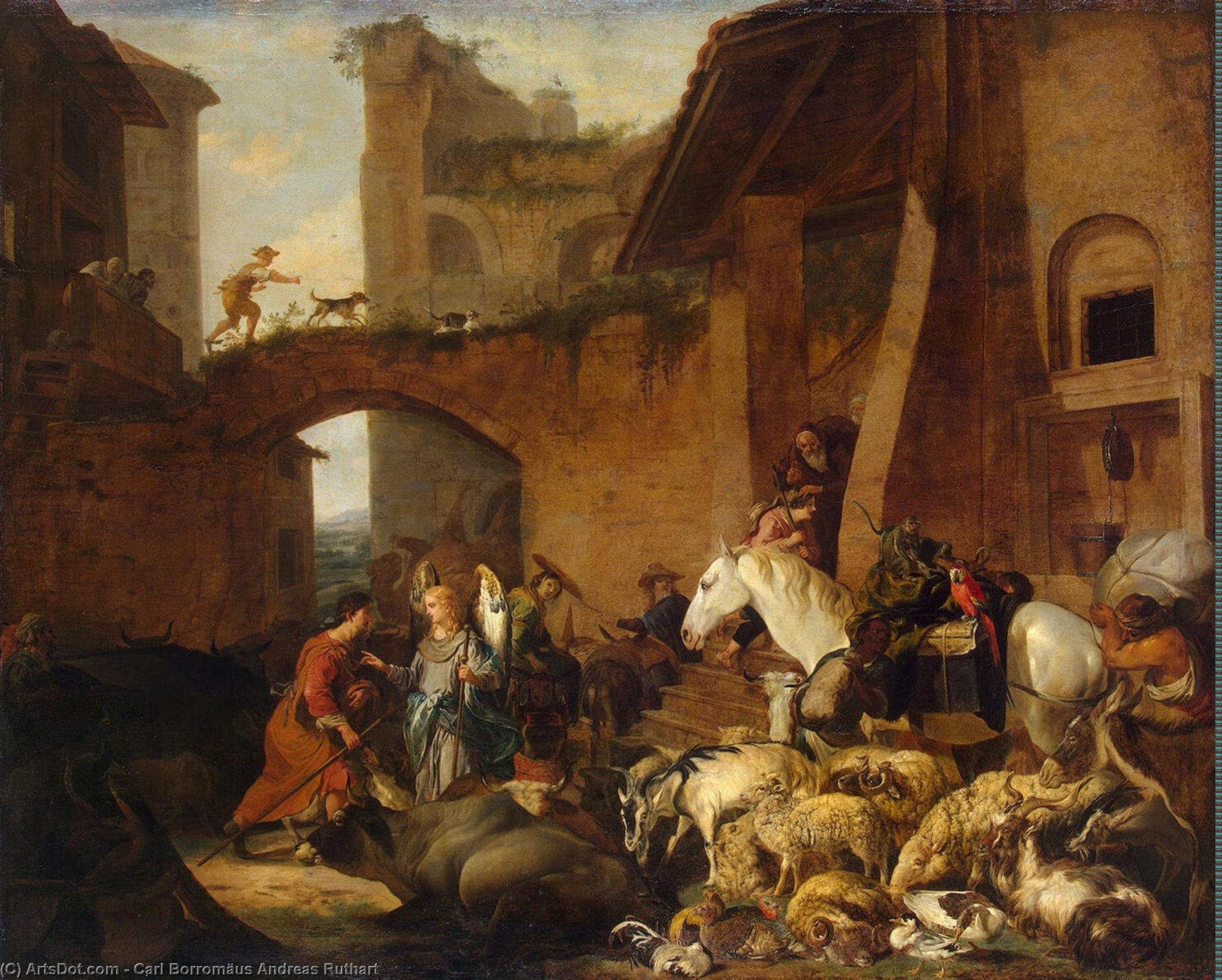 Wikioo.org - The Encyclopedia of Fine Arts - Painting, Artwork by Carl Borromäus Andreas Ruthart - Story of Tobias