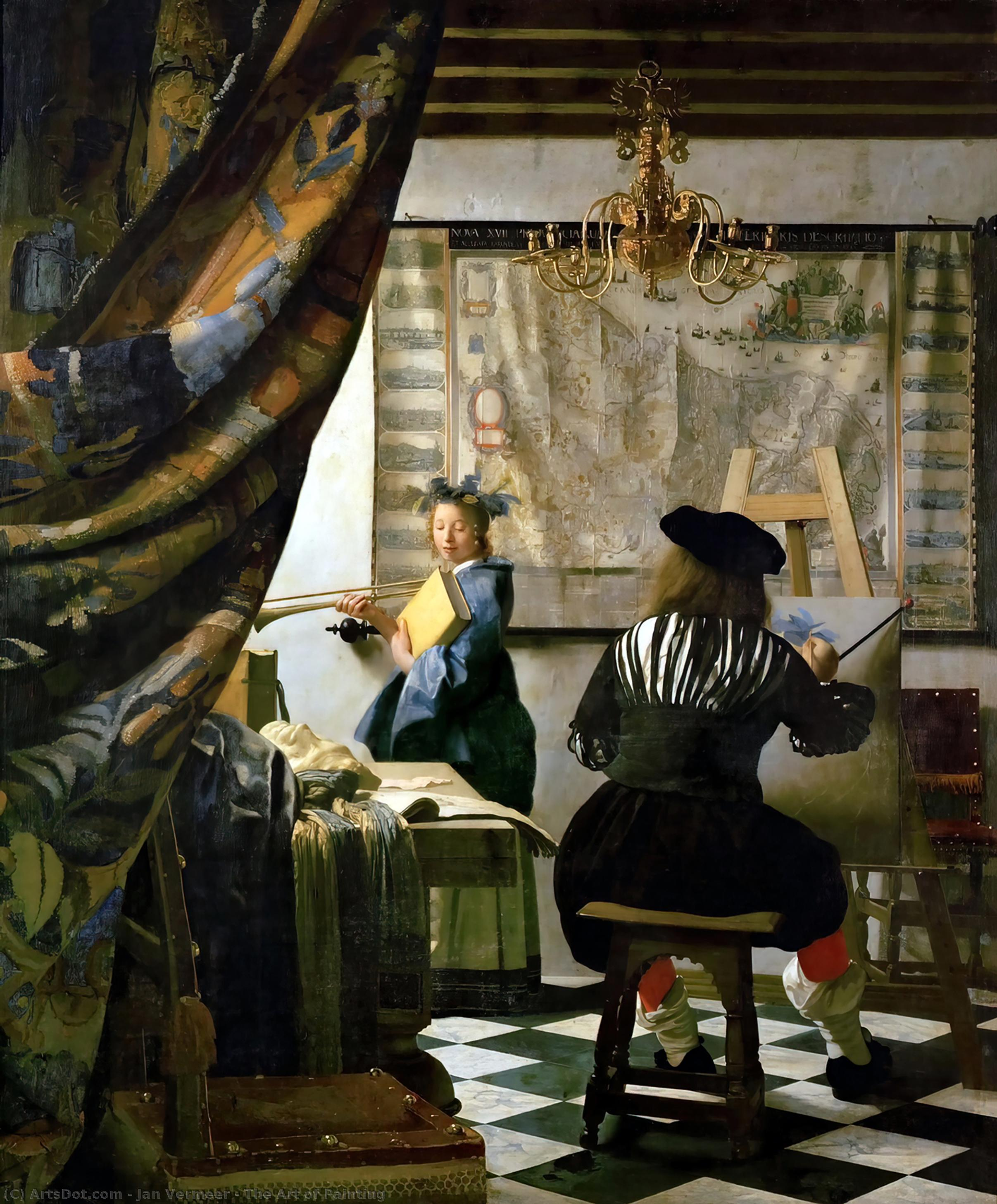 WikiOO.org - Enciclopedia of Fine Arts - Pictura, lucrări de artă Jan Vermeer - The Art of Painting