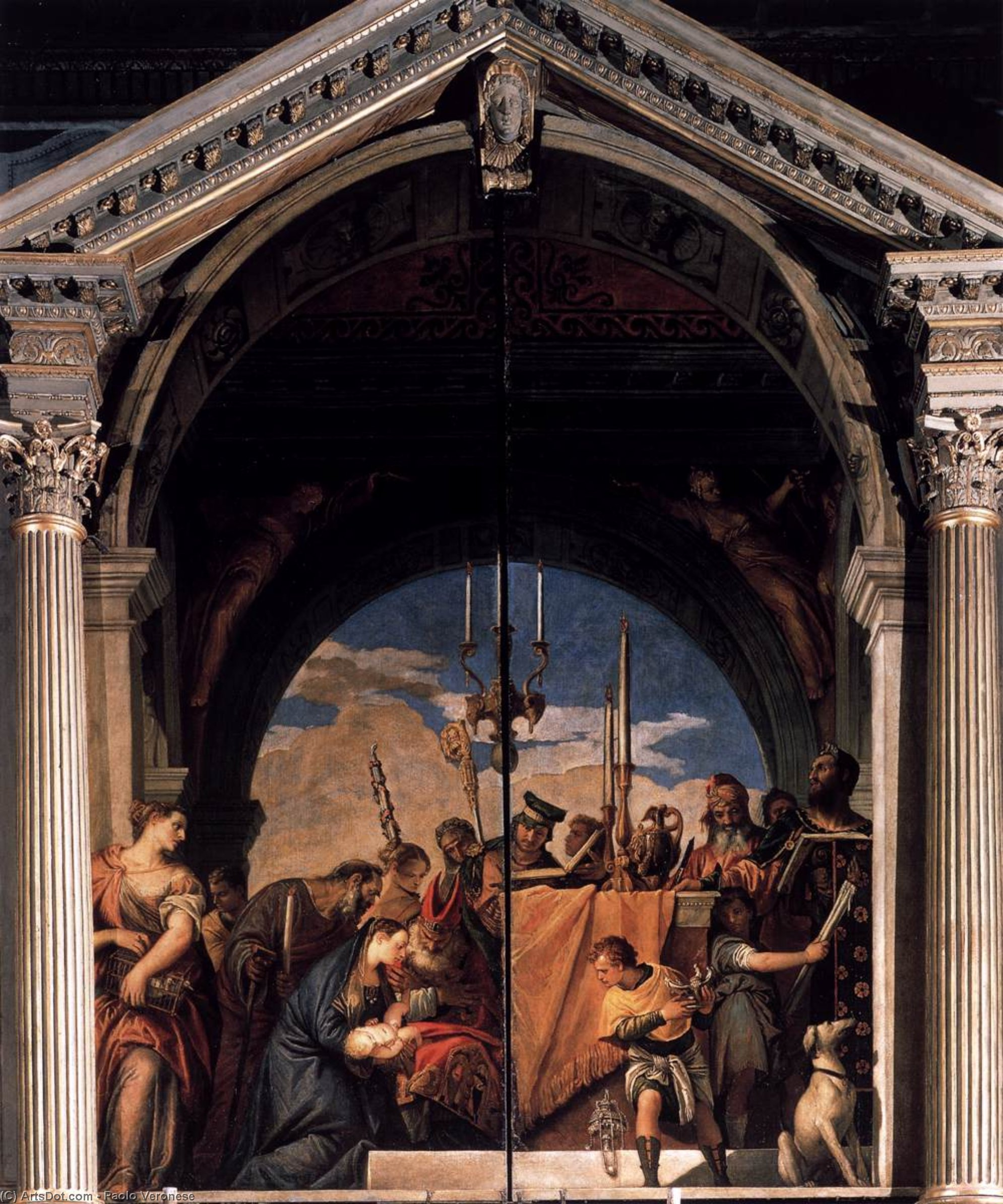 Wikioo.org - The Encyclopedia of Fine Arts - Painting, Artwork by Paolo Veronese - Presentation in the Temple