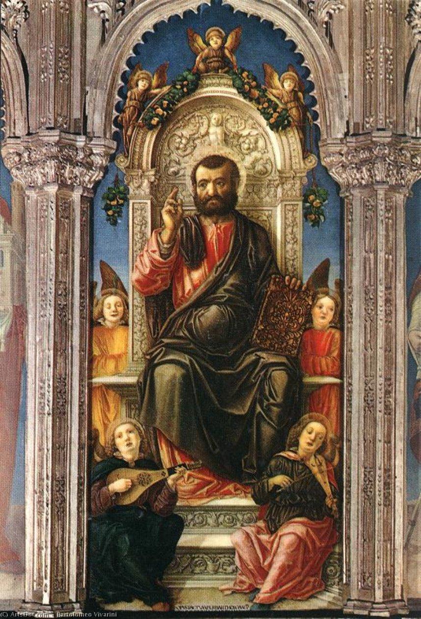 WikiOO.org - Enciklopedija dailės - Tapyba, meno kuriniai Bartolomeo Vivarini - Triptych of St Mark