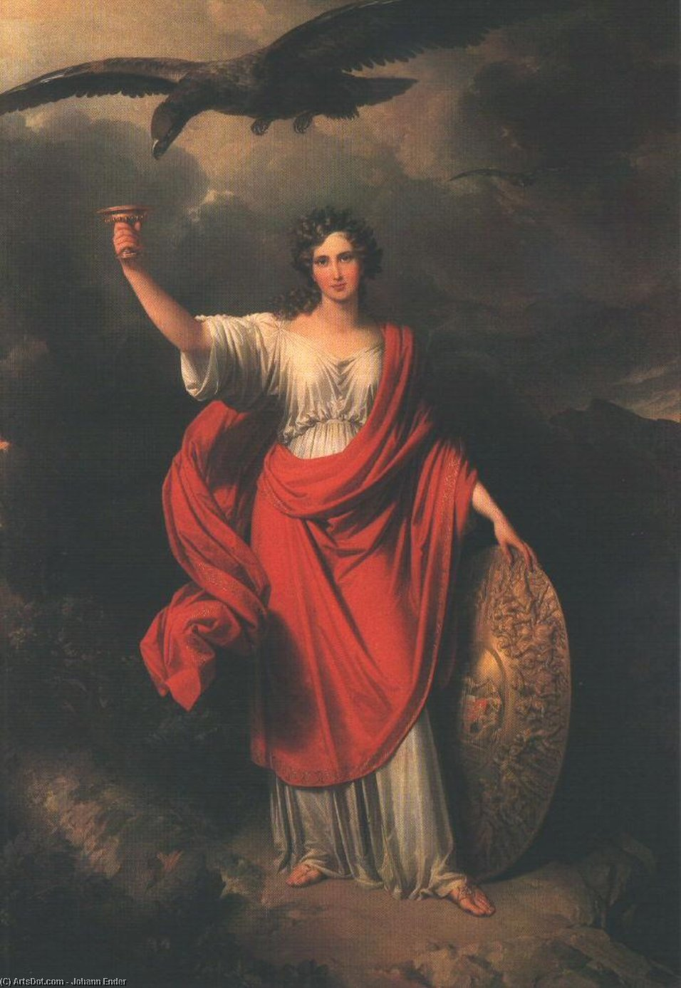 Wikioo.org - The Encyclopedia of Fine Arts - Painting, Artwork by Johann Nepomuk Ender - From Darkness, the Light. Allegory of the Hungarian Academy of Sciences