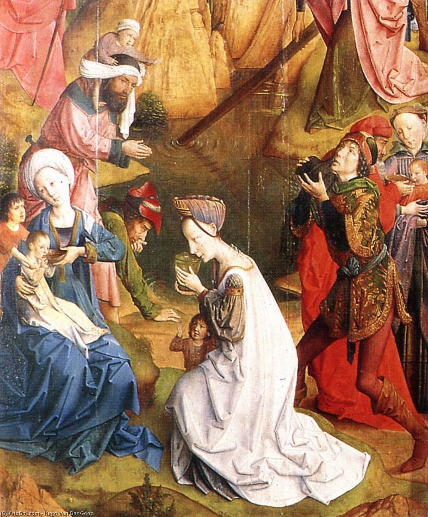 Wikioo.org - The Encyclopedia of Fine Arts - Painting, Artwork by Hugo Van Der Goes - Calvary Triptych (detail) (16)
