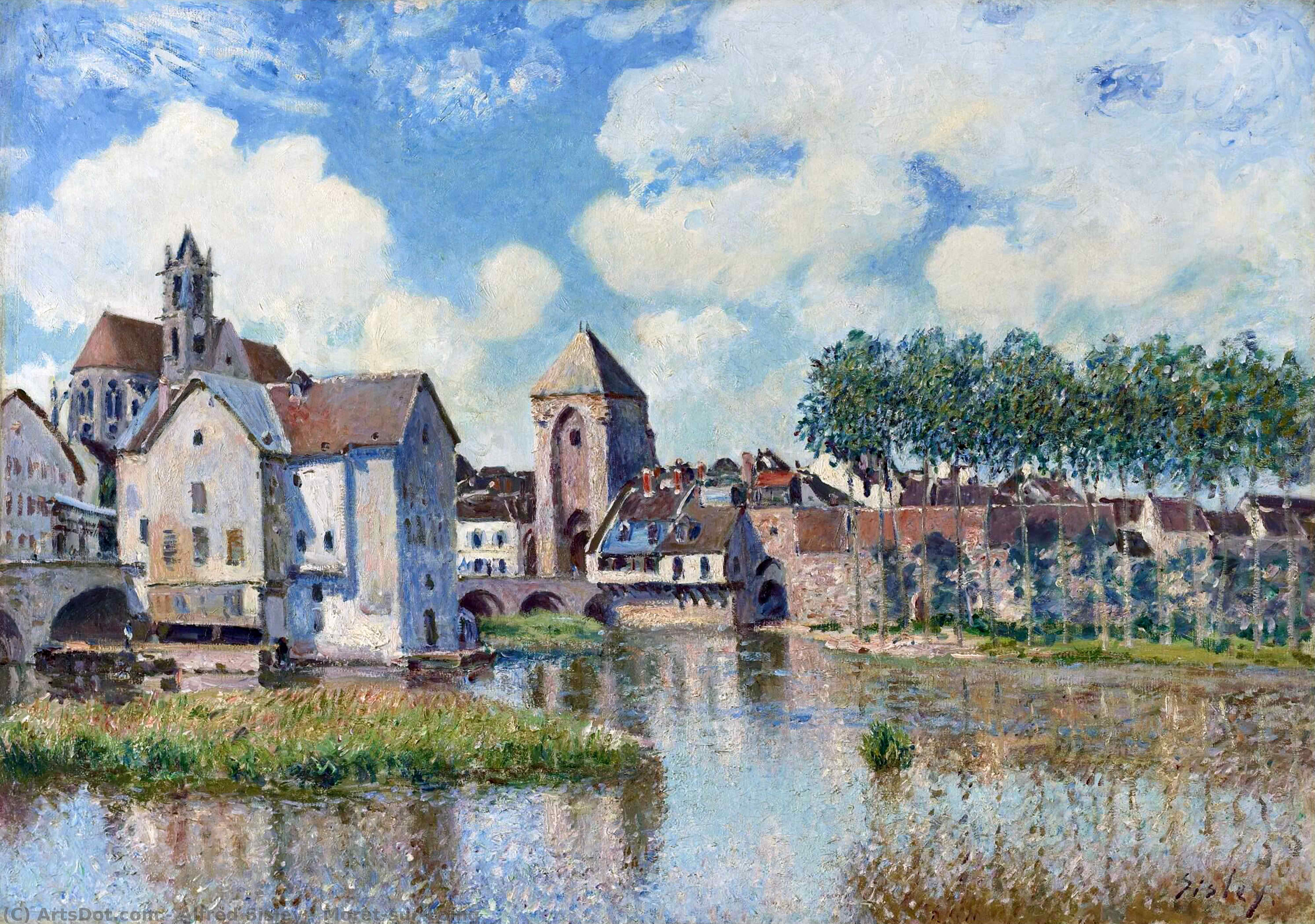 Wikioo.org - The Encyclopedia of Fine Arts - Painting, Artwork by Alfred Sisley - Moret-sur-Loing