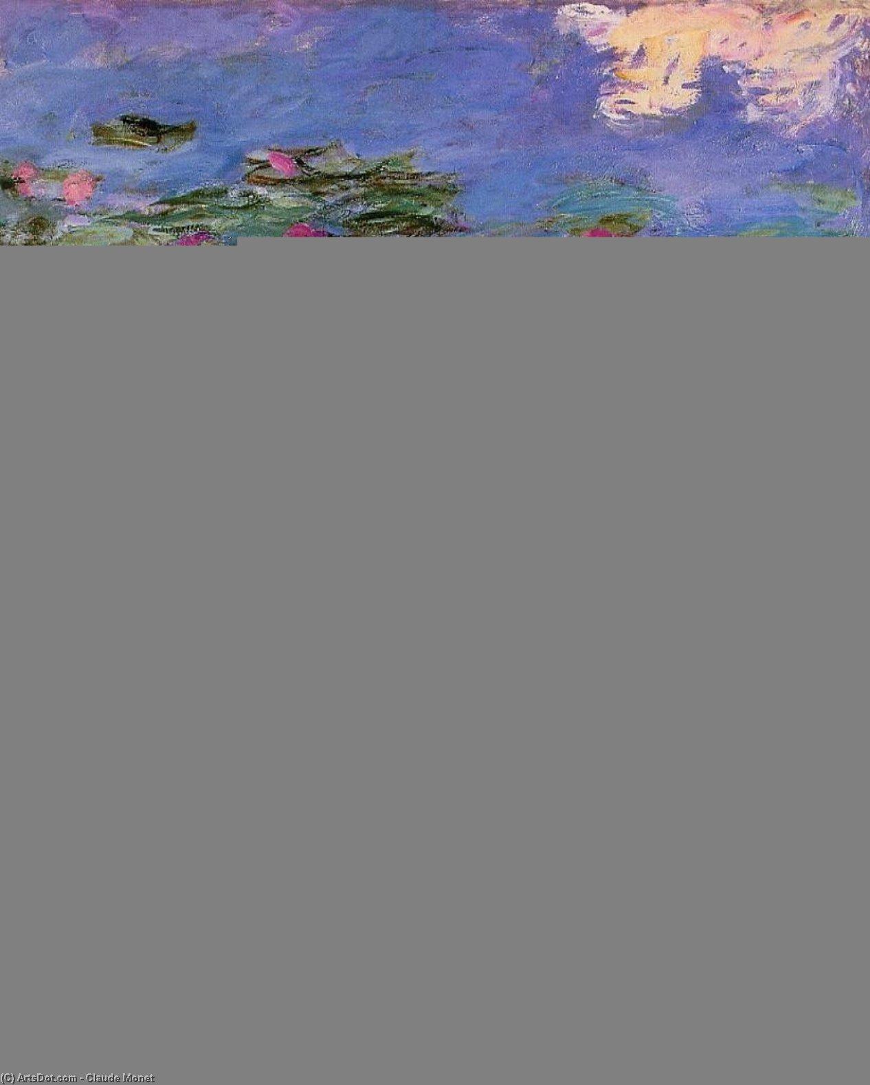 Wikioo.org – L'Enciclopedia delle Belle Arti - Pittura, Opere di Claude Monet - rosso gigli d'acqua