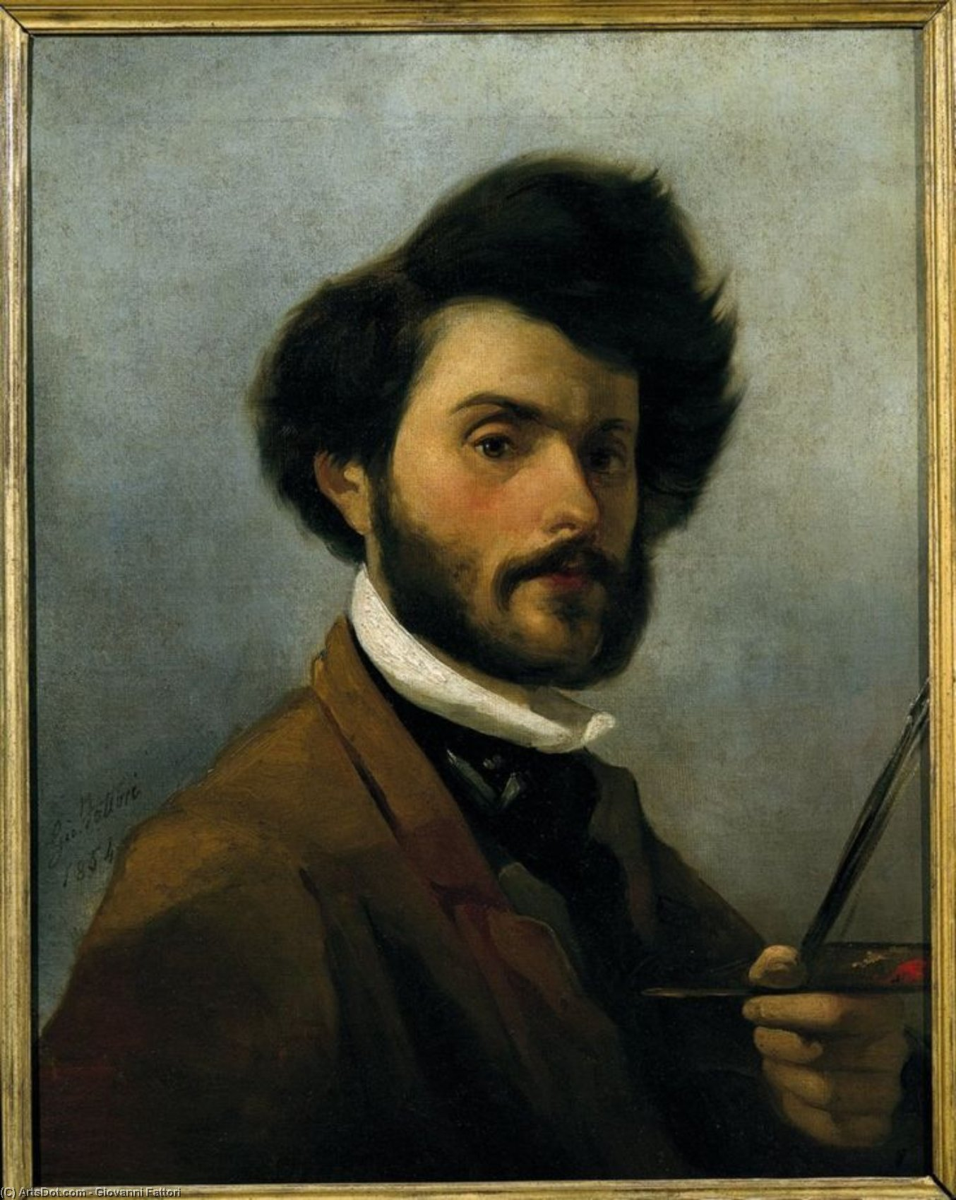 Wikioo.org - The Encyclopedia of Fine Arts - Painting, Artwork by Giovanni Fattori - Self Portrait