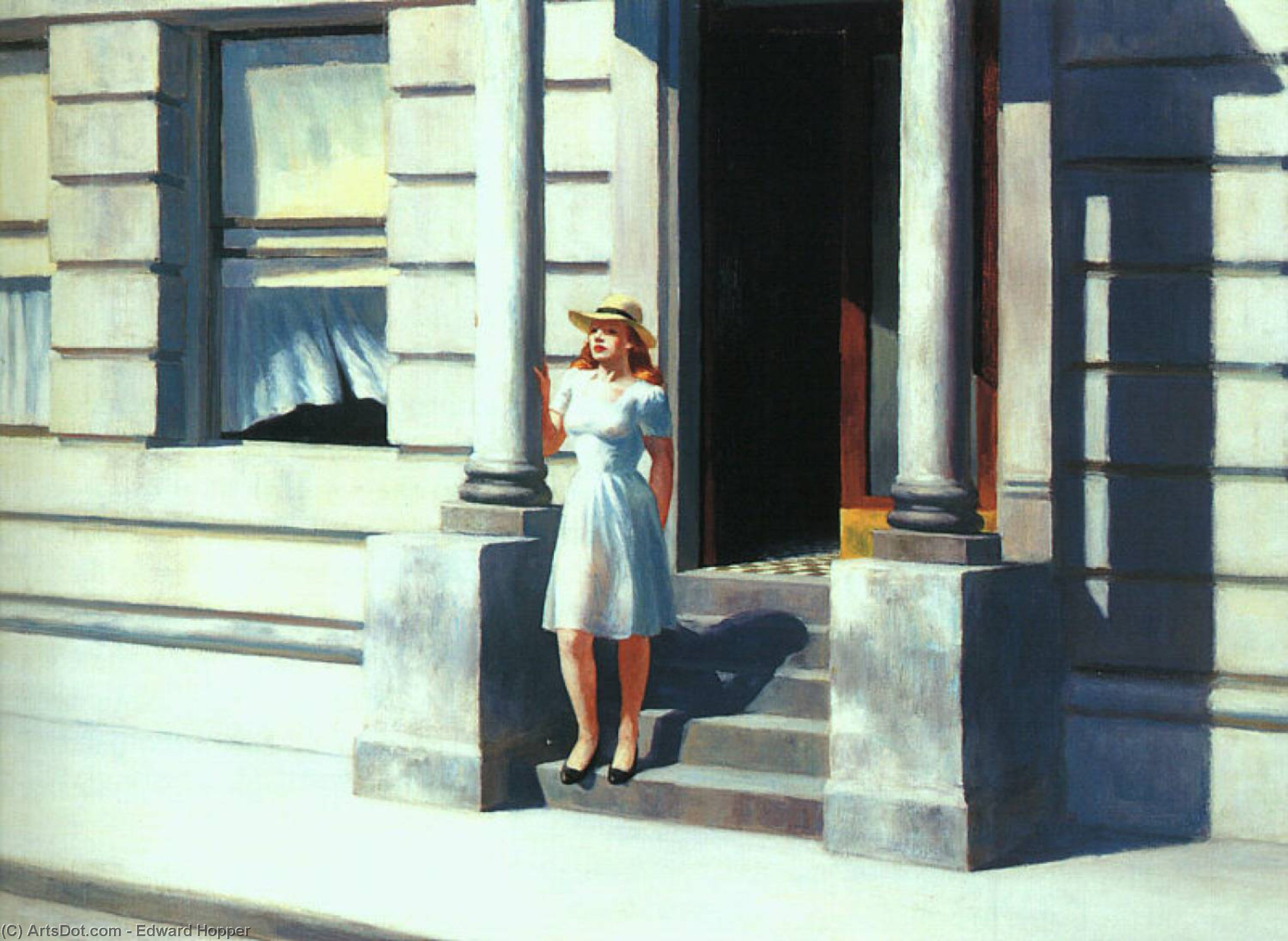 Wikioo.org - The Encyclopedia of Fine Arts - Painting, Artwork by Edward Hopper - Summertime