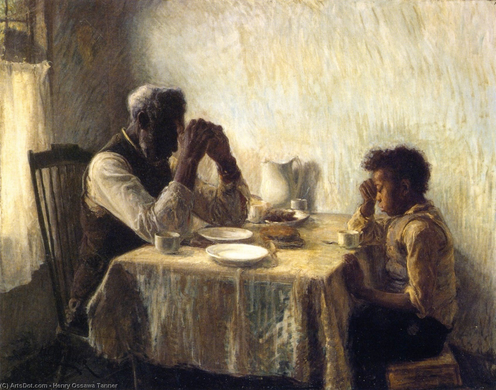 Wikioo.org - The Encyclopedia of Fine Arts - Painting, Artwork by Henry Ossawa Tanner - The Thankful Poor