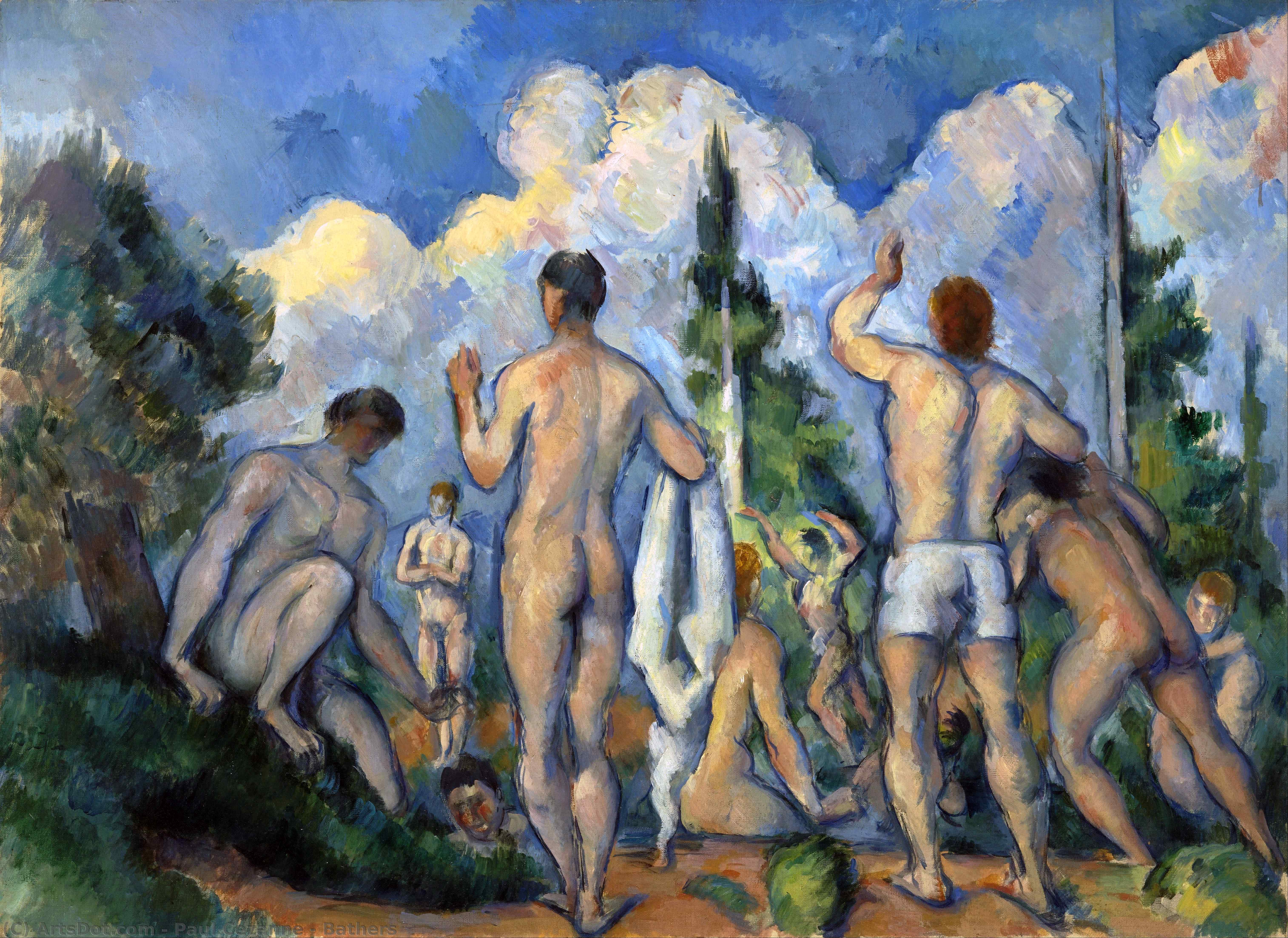 Wikioo.org - The Encyclopedia of Fine Arts - Painting, Artwork by Paul Cezanne - Bathers