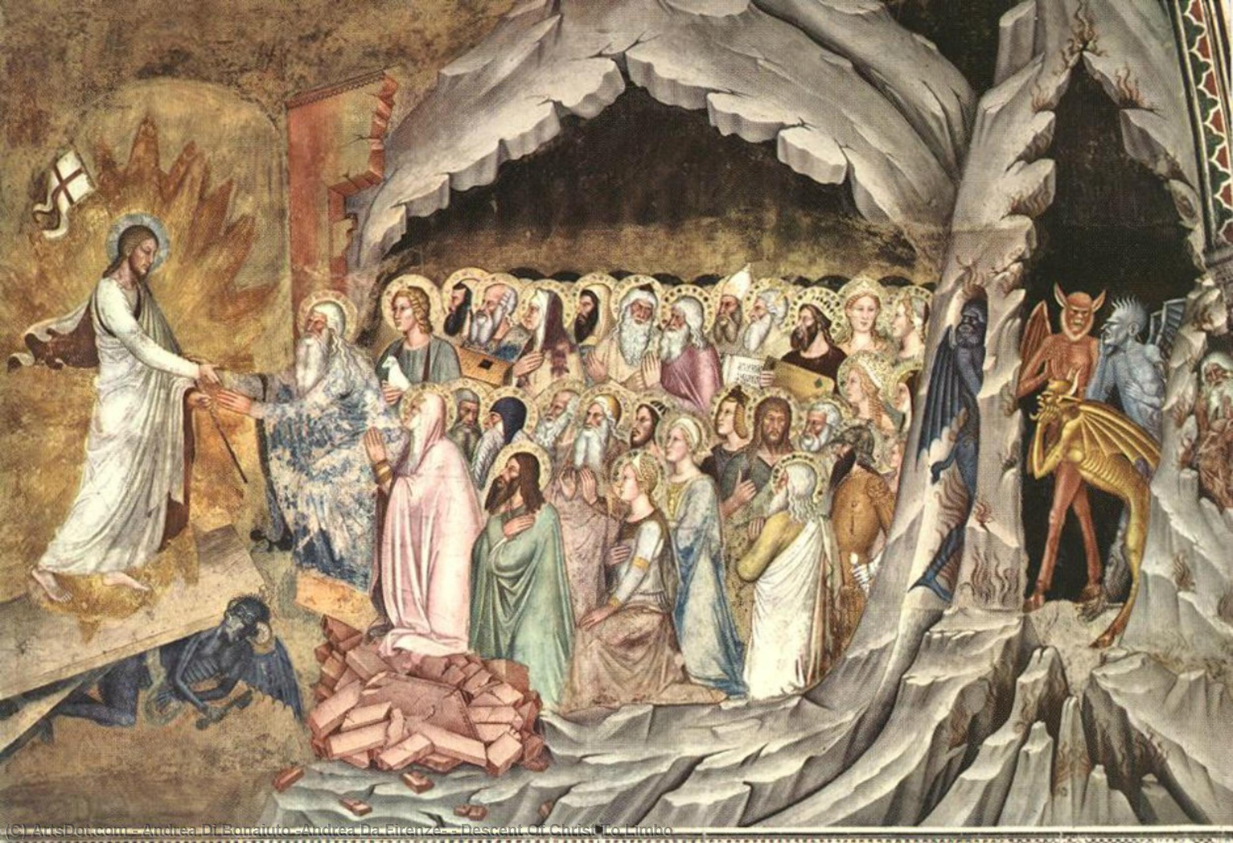 WikiOO.org - Enciklopedija dailės - Tapyba, meno kuriniai Andrea Di Bonaiuto (Andrea Da Firenze) - Descent Of Christ To Limbo