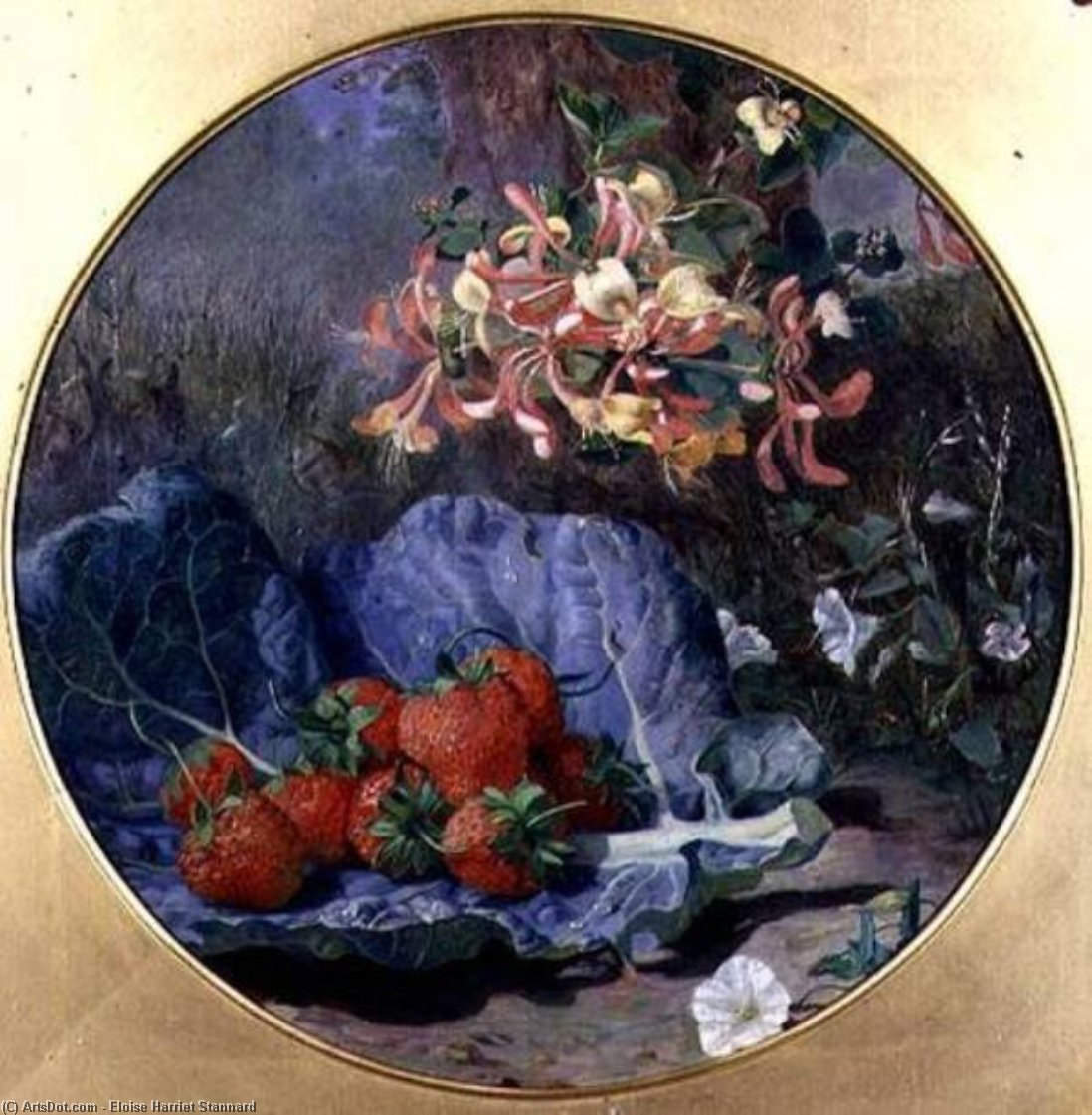 Wikioo.org - The Encyclopedia of Fine Arts - Painting, Artwork by Eloise Harriet Stannard - Strawberries