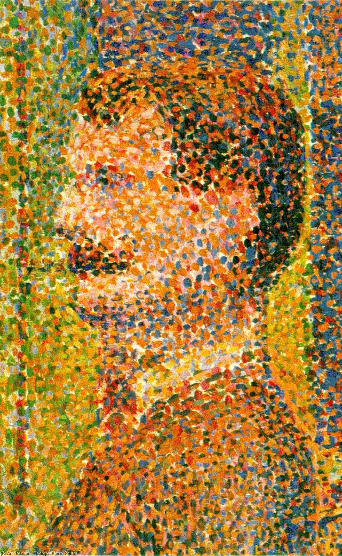 Wikioo.org - The Encyclopedia of Fine Arts - Painting, Artwork by Georges Pierre Seurat - Parade de cirque (detail) -