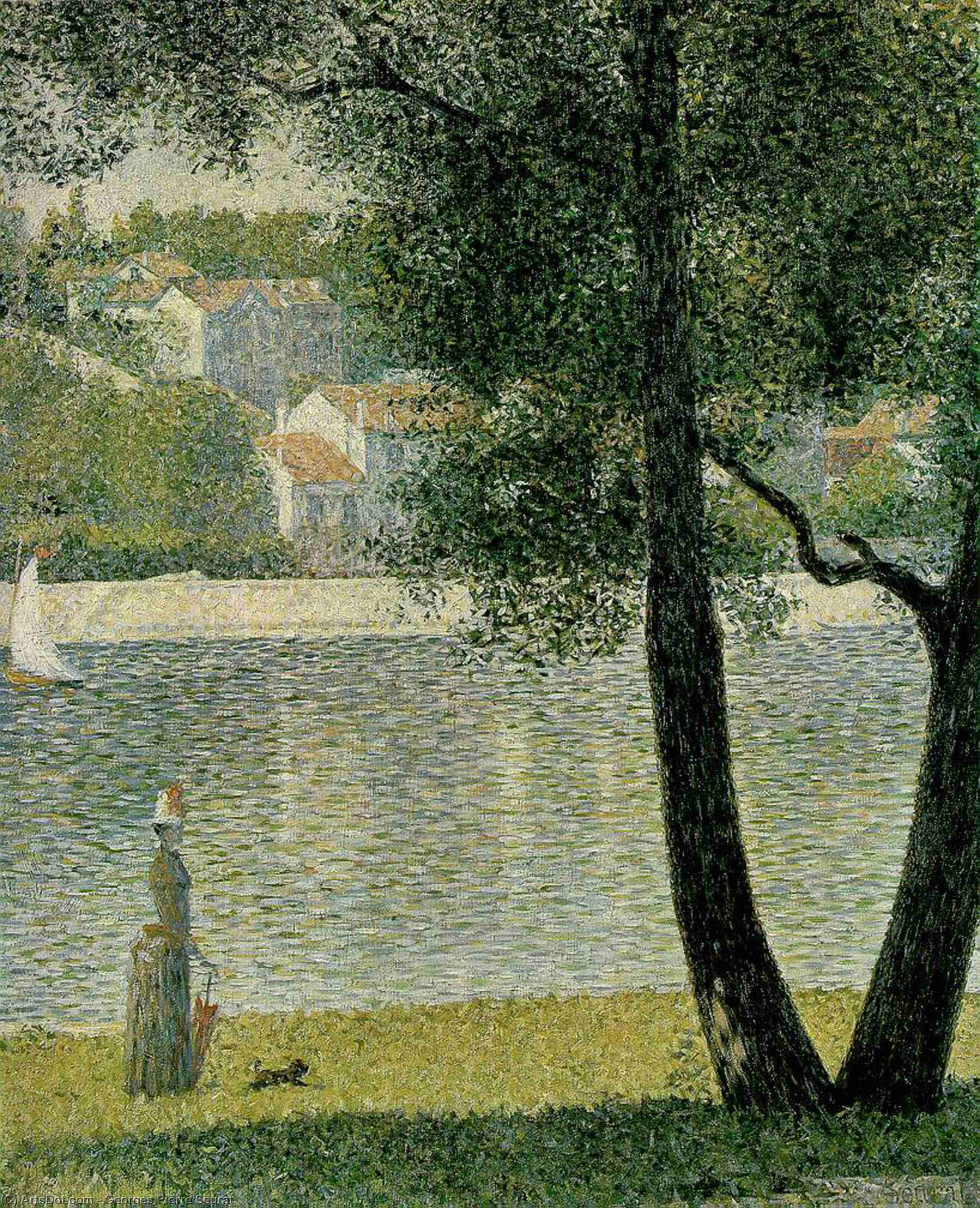 Wikioo.org - The Encyclopedia of Fine Arts - Painting, Artwork by Georges Pierre Seurat - The Seine at Courbevoie