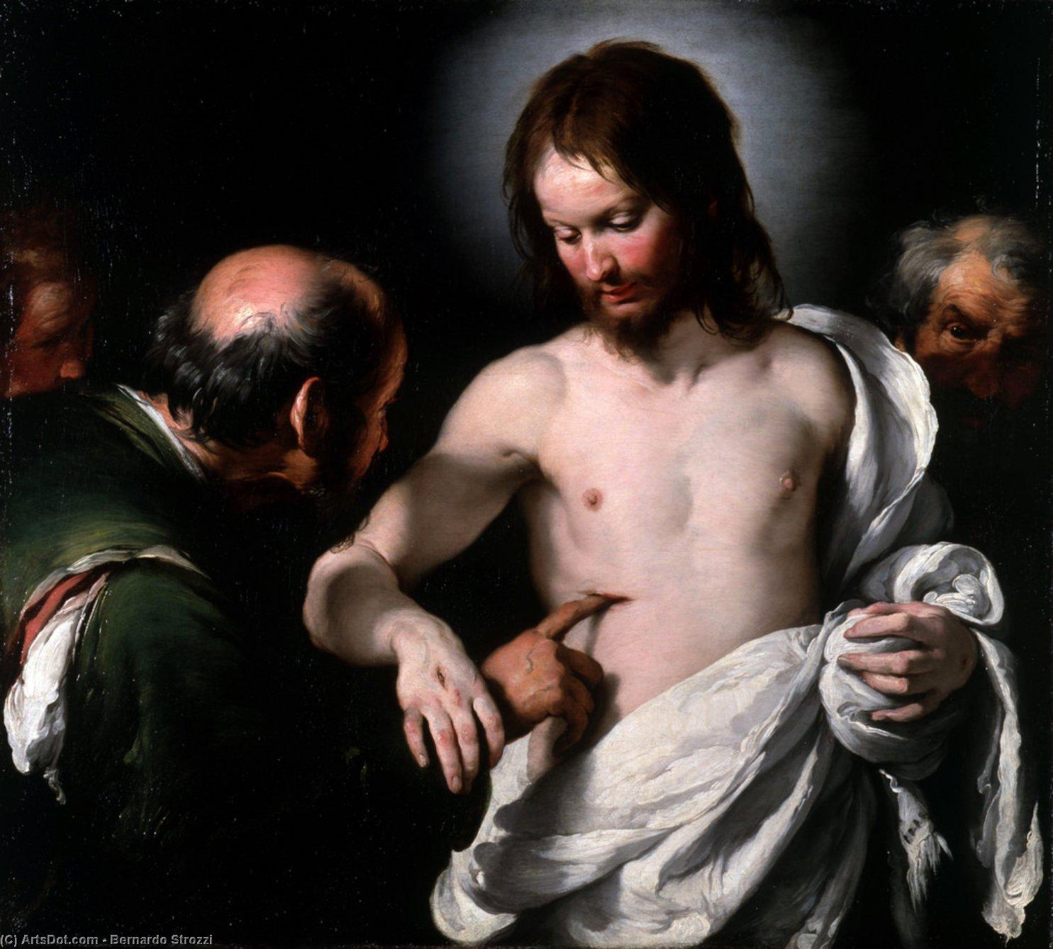 Wikioo.org - The Encyclopedia of Fine Arts - Painting, Artwork by Bernardo Strozzi - The Incredulity of Saint Thomas
