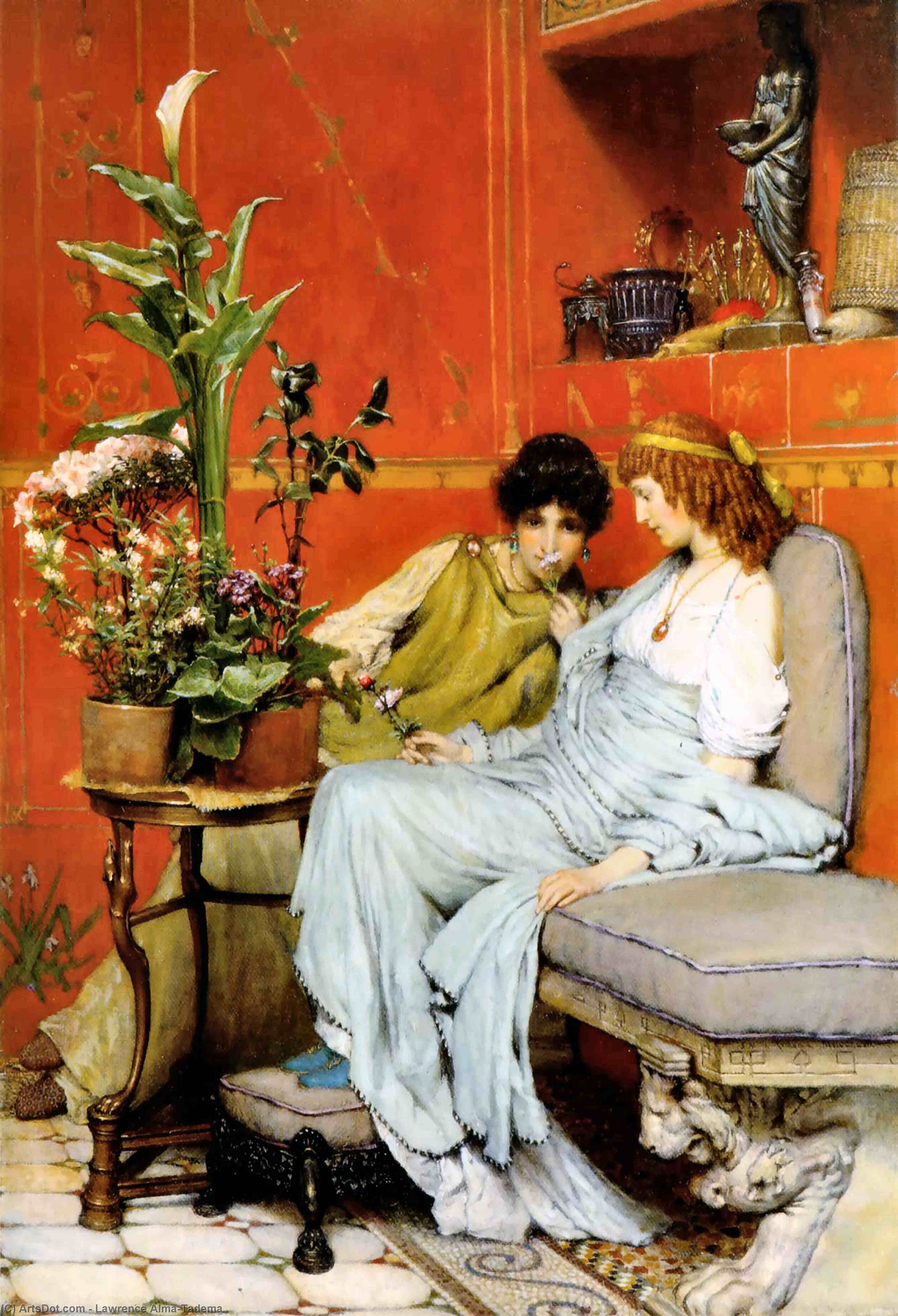Wikioo.org - The Encyclopedia of Fine Arts - Painting, Artwork by Lawrence Alma-Tadema - Confidences