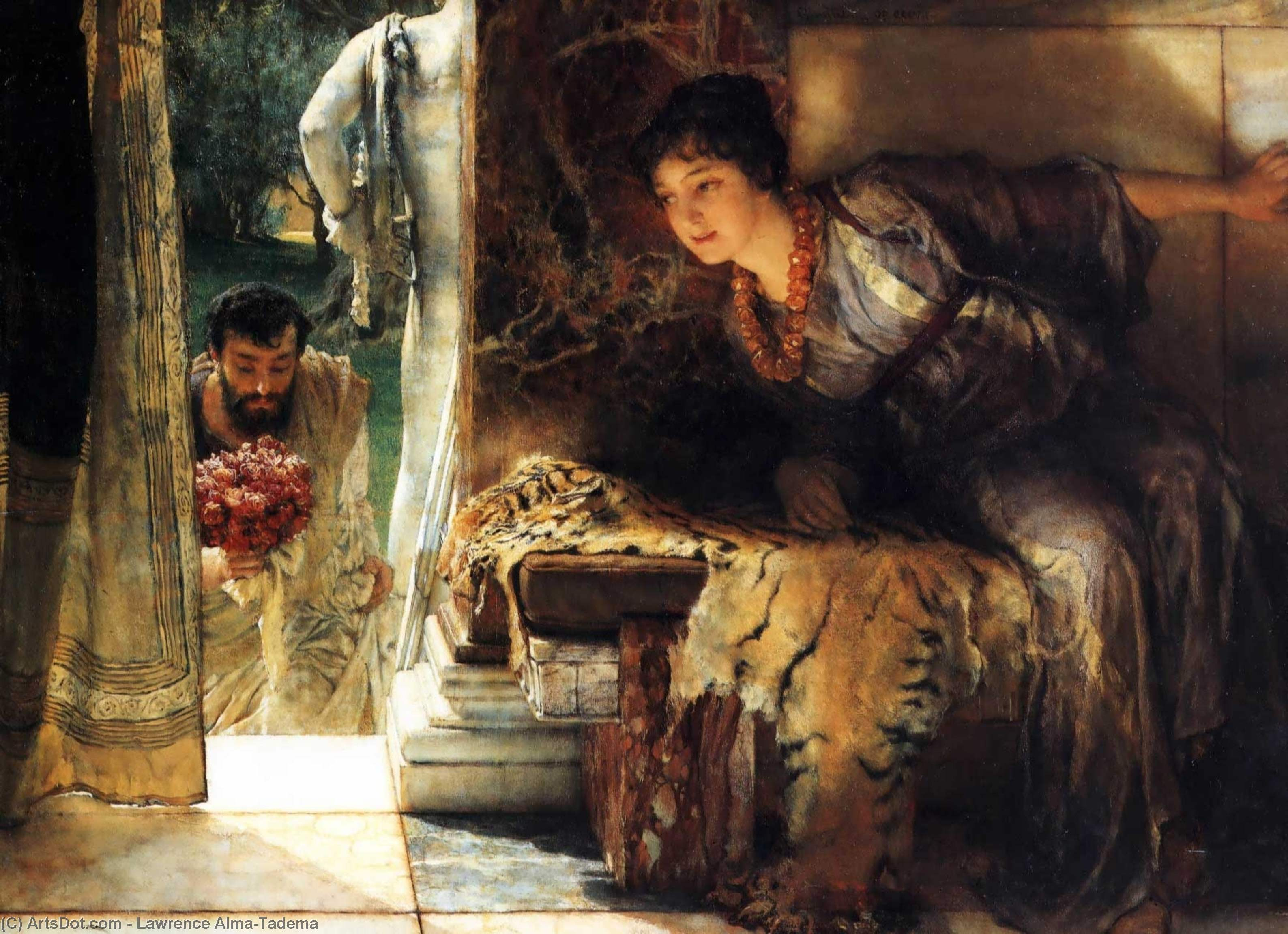 Wikioo.org - The Encyclopedia of Fine Arts - Painting, Artwork by Lawrence Alma-Tadema - Welcome footsteps