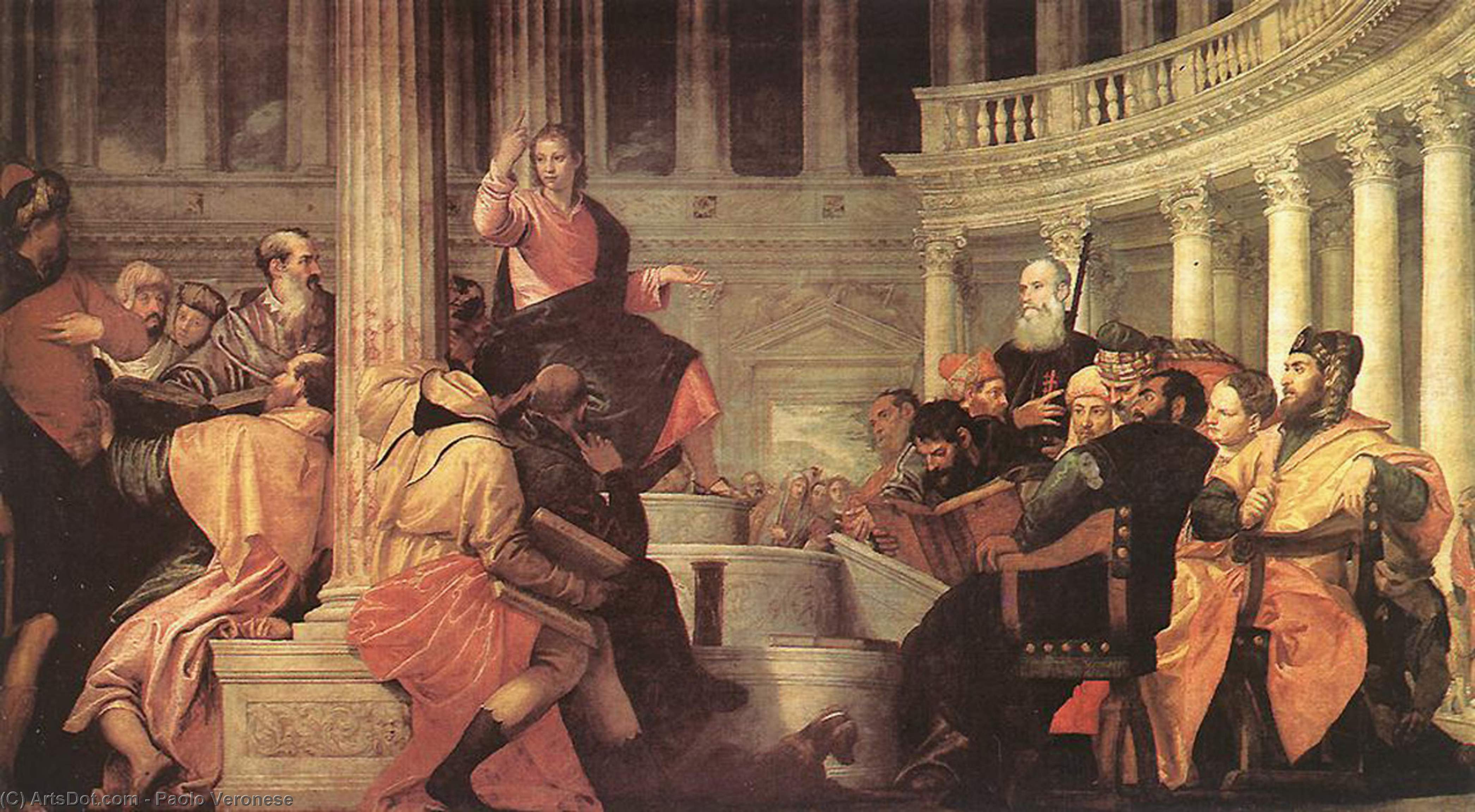 Wikioo.org - The Encyclopedia of Fine Arts - Painting, Artwork by Paolo Veronese - Jesus among the Doctors in the Temple