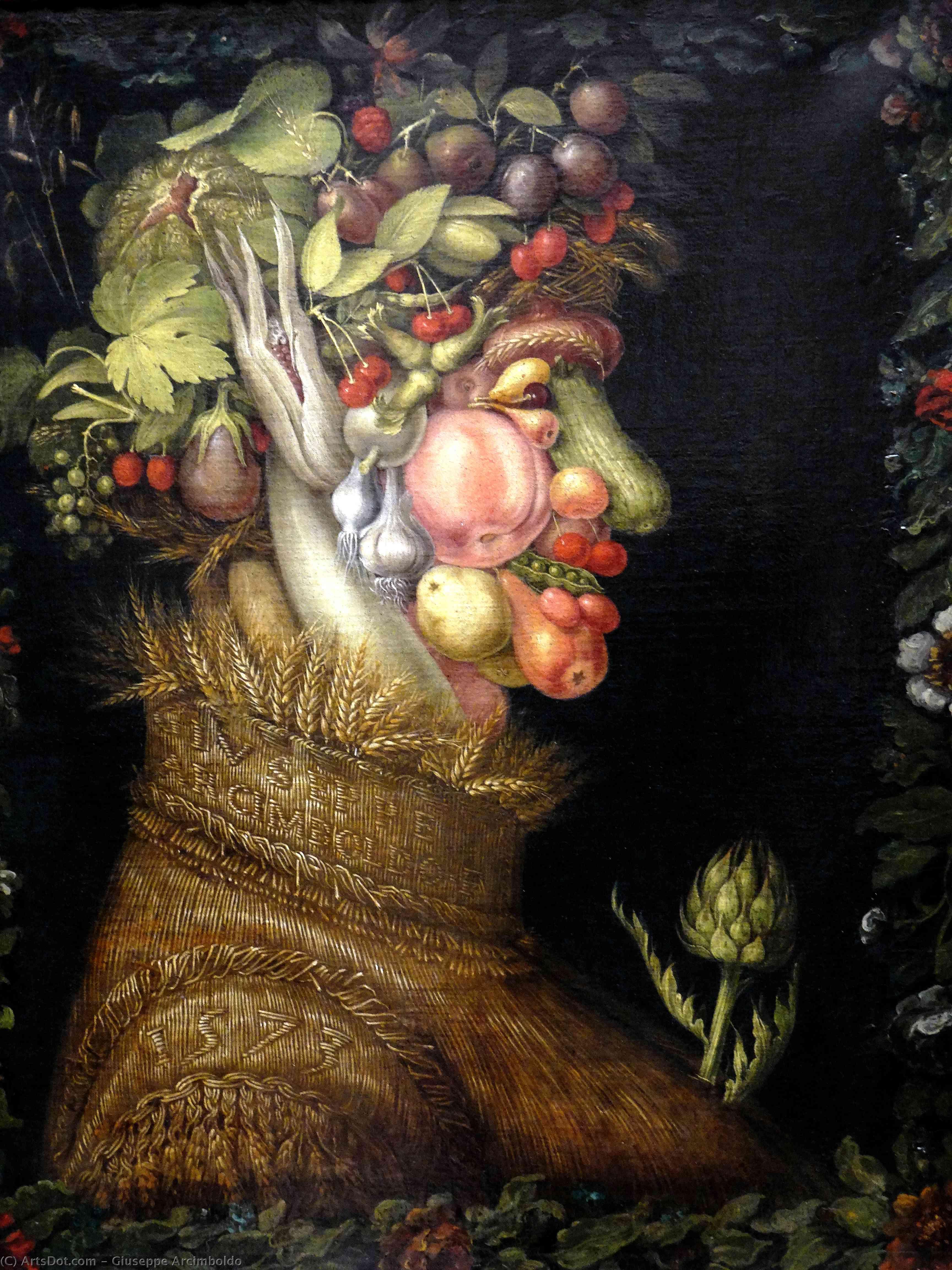 WikiOO.org - Encyclopedia of Fine Arts - Malba, Artwork Giuseppe Arcimboldo - Summer