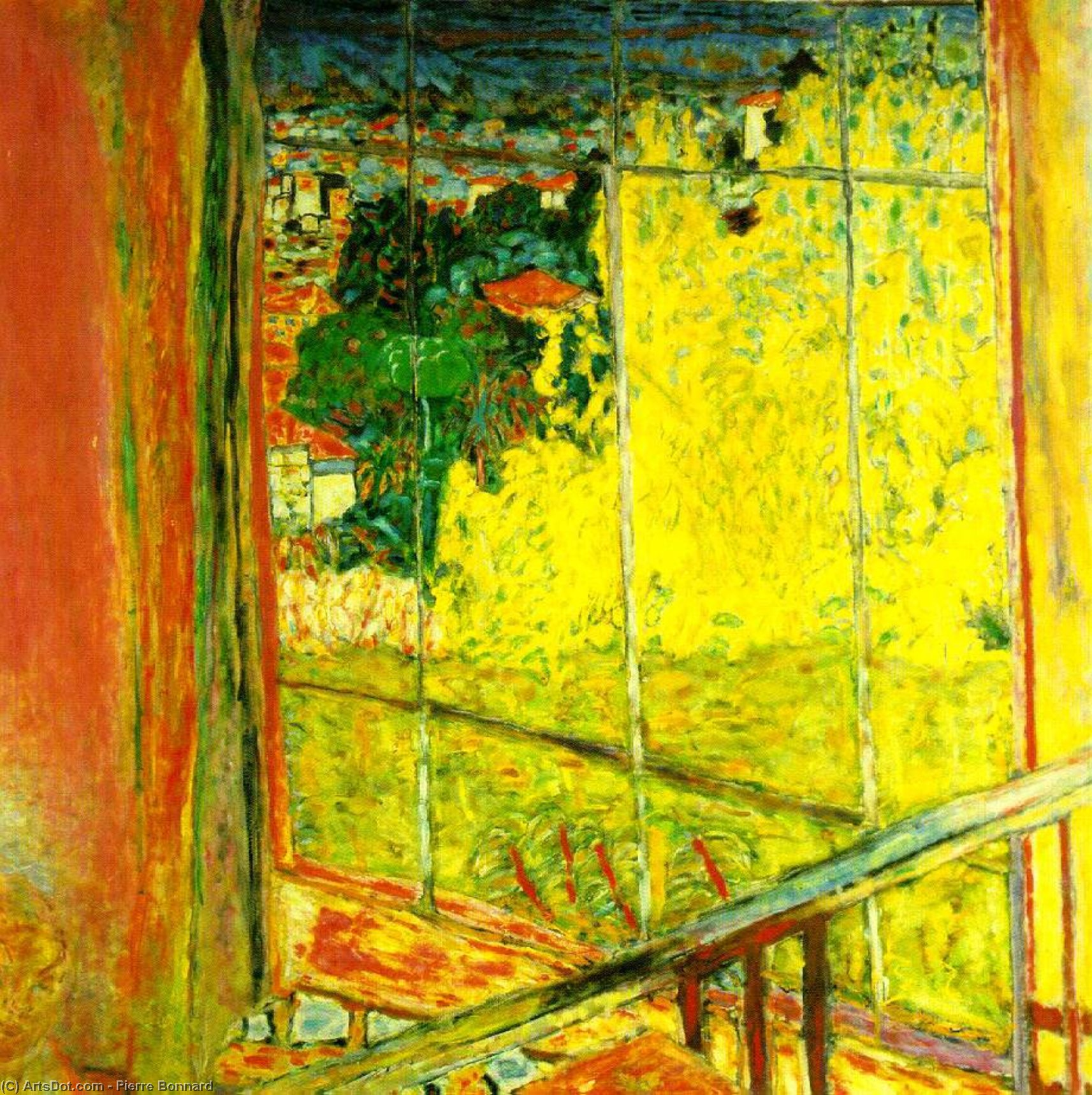 Wikioo.org - The Encyclopedia of Fine Arts - Painting, Artwork by Pierre Bonnard - L'atelier au mimosa, Musee Nationa