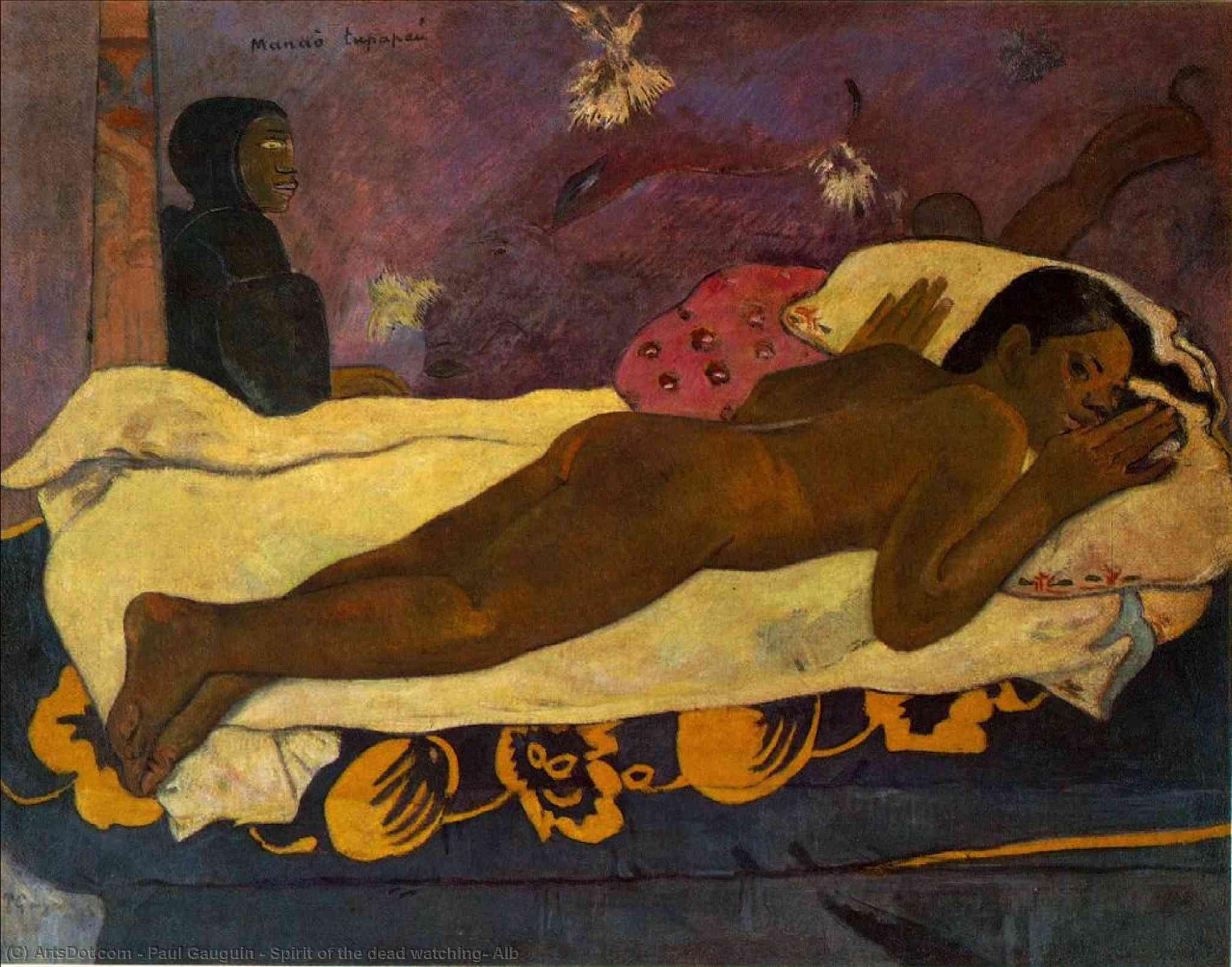 WikiOO.org - Güzel Sanatlar Ansiklopedisi - Resim, Resimler Paul Gauguin - Spirit of the dead watching, Alb