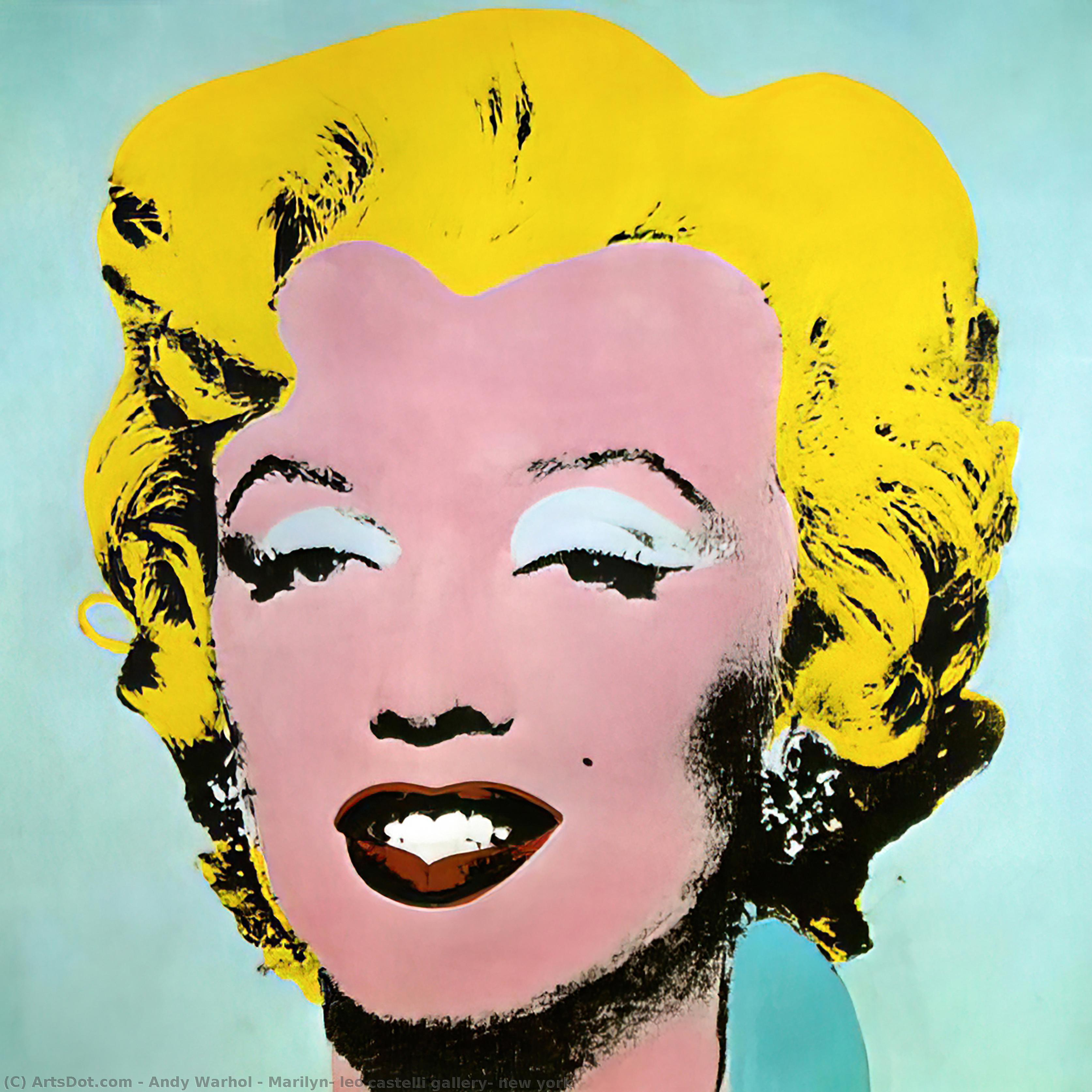 Wikioo.org - The Encyclopedia of Fine Arts - Painting, Artwork by Andy Warhol - Marilyn, leo castelli gallery, new york