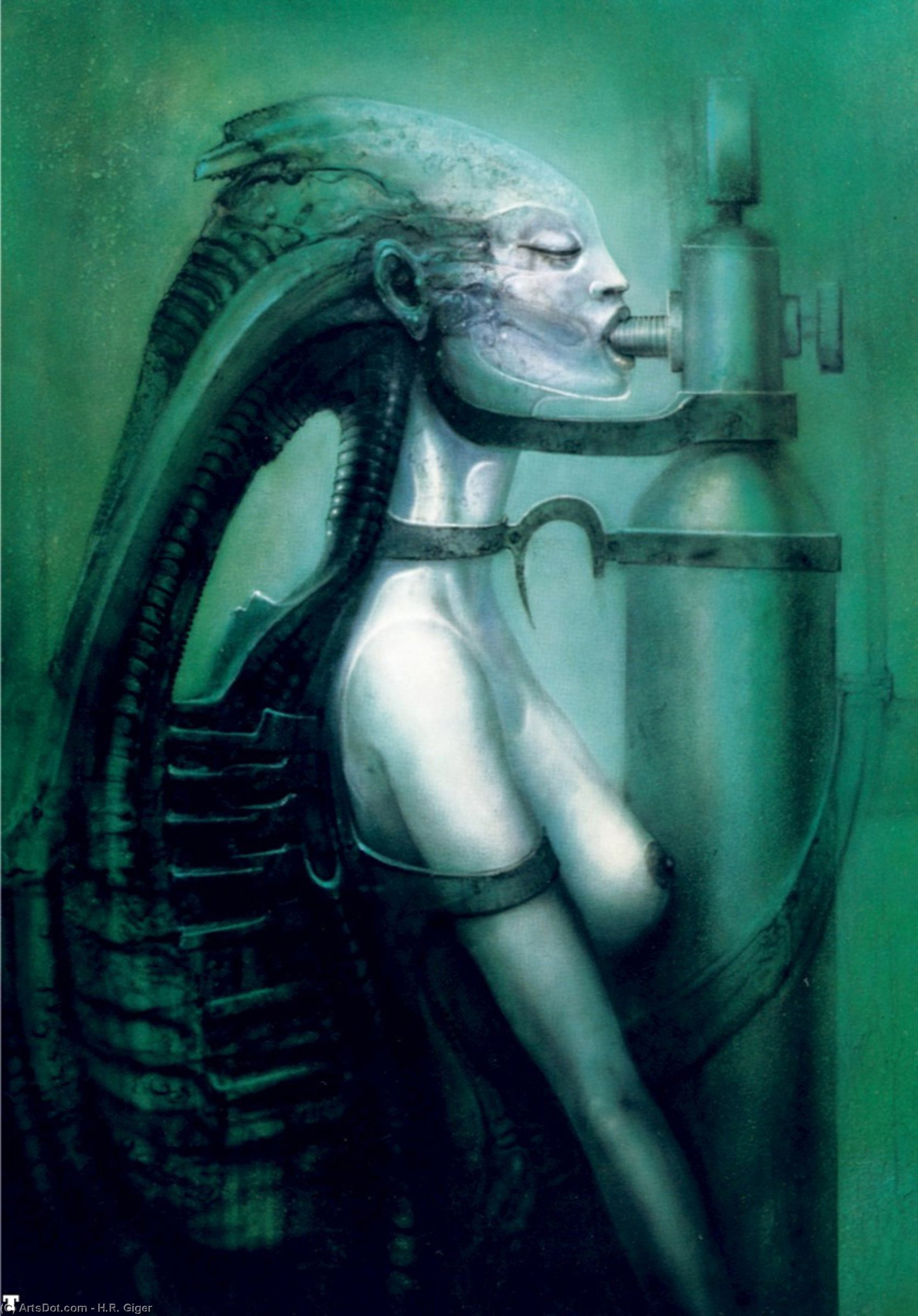 Wikioo.org – L'Enciclopedia delle Belle Arti - Pittura, Opere di H.R. Giger - Hr giger biomechanoid - ( 75 )