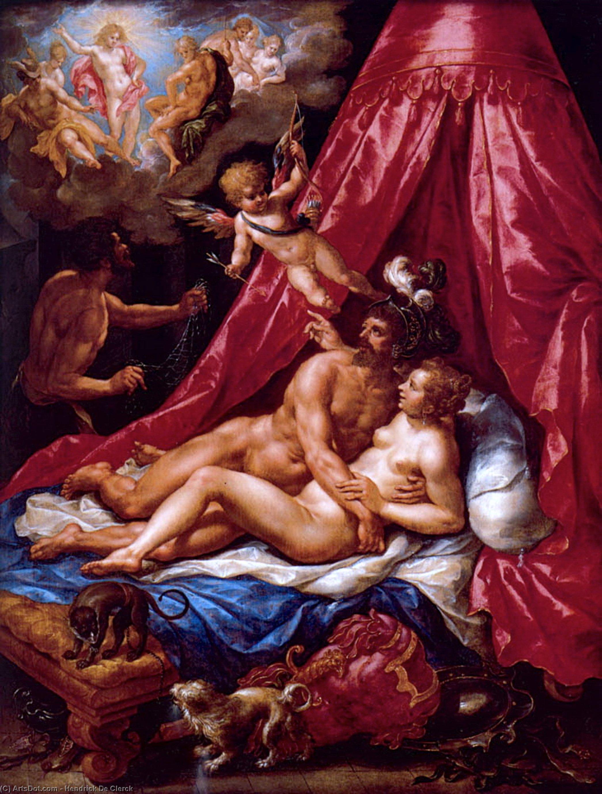 Wikioo.org - The Encyclopedia of Fine Arts - Painting, Artwork by Hendrick De Clerck - Mars and Venus