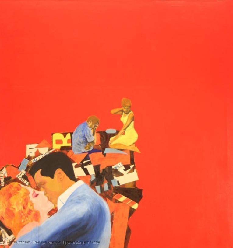 Wikioo.org - The Encyclopedia of Fine Arts - Painting, Artwork by Rosalyn Drexler - Lovers aka am i faris