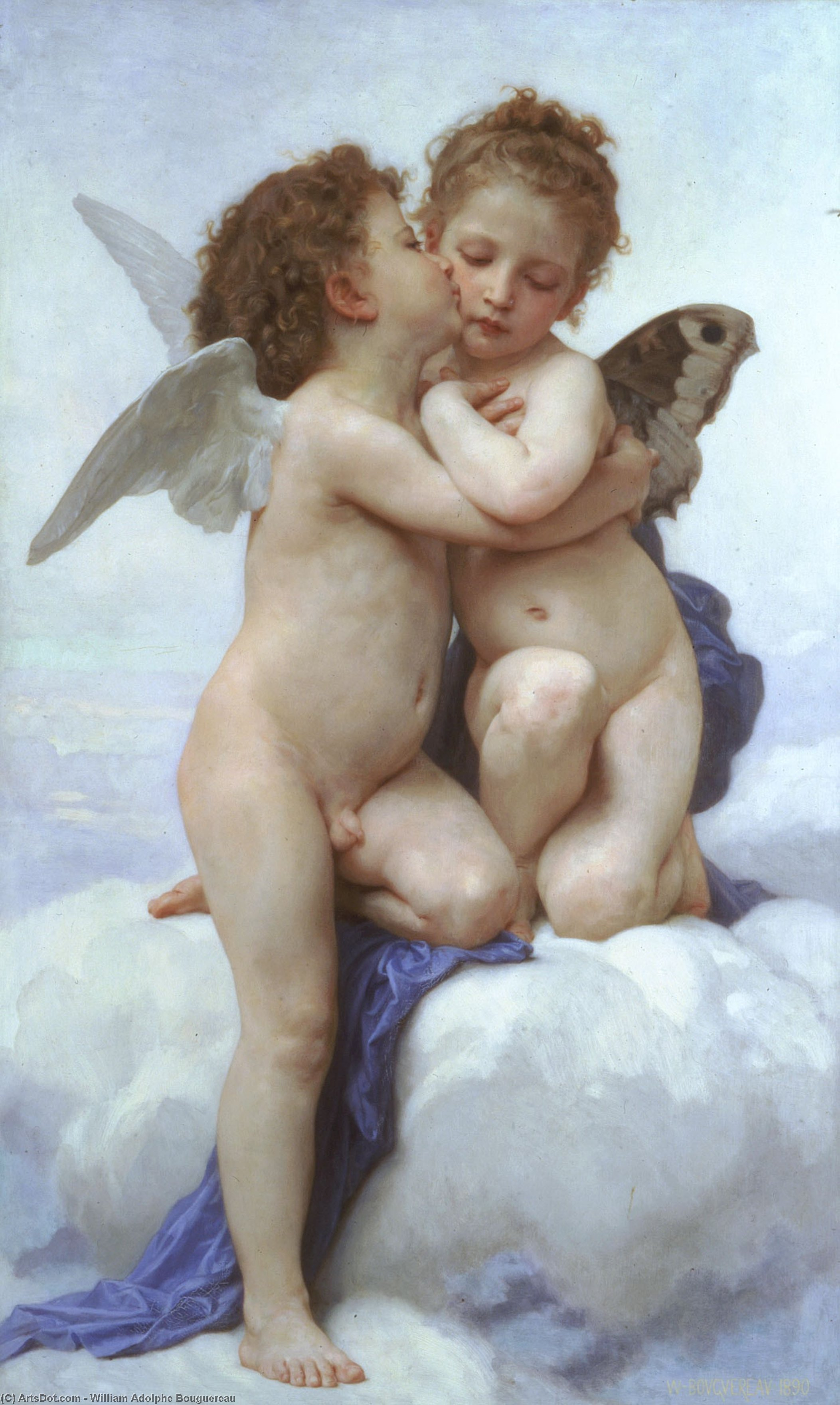 WikiOO.org - 百科事典 - 絵画、アートワーク William Adolphe Bouguereau - ラムールとプシュケ子供