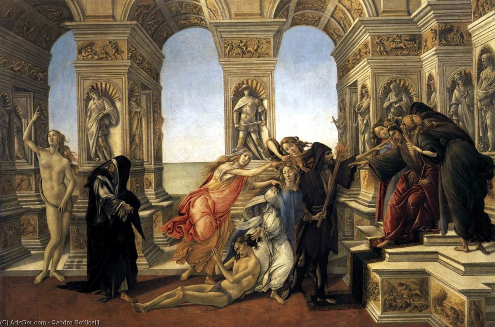 Wikioo.org - The Encyclopedia of Fine Arts - Painting, Artwork by Sandro Botticelli - Calumny of Apelles