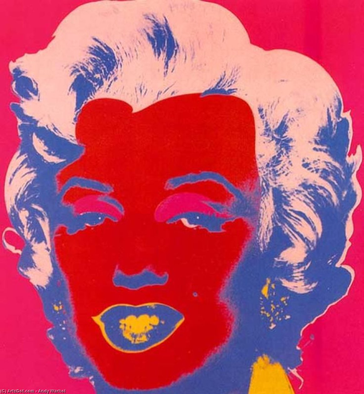 Wikioo.org - The Encyclopedia of Fine Arts - Painting, Artwork by Andy Warhol - Marylin Red