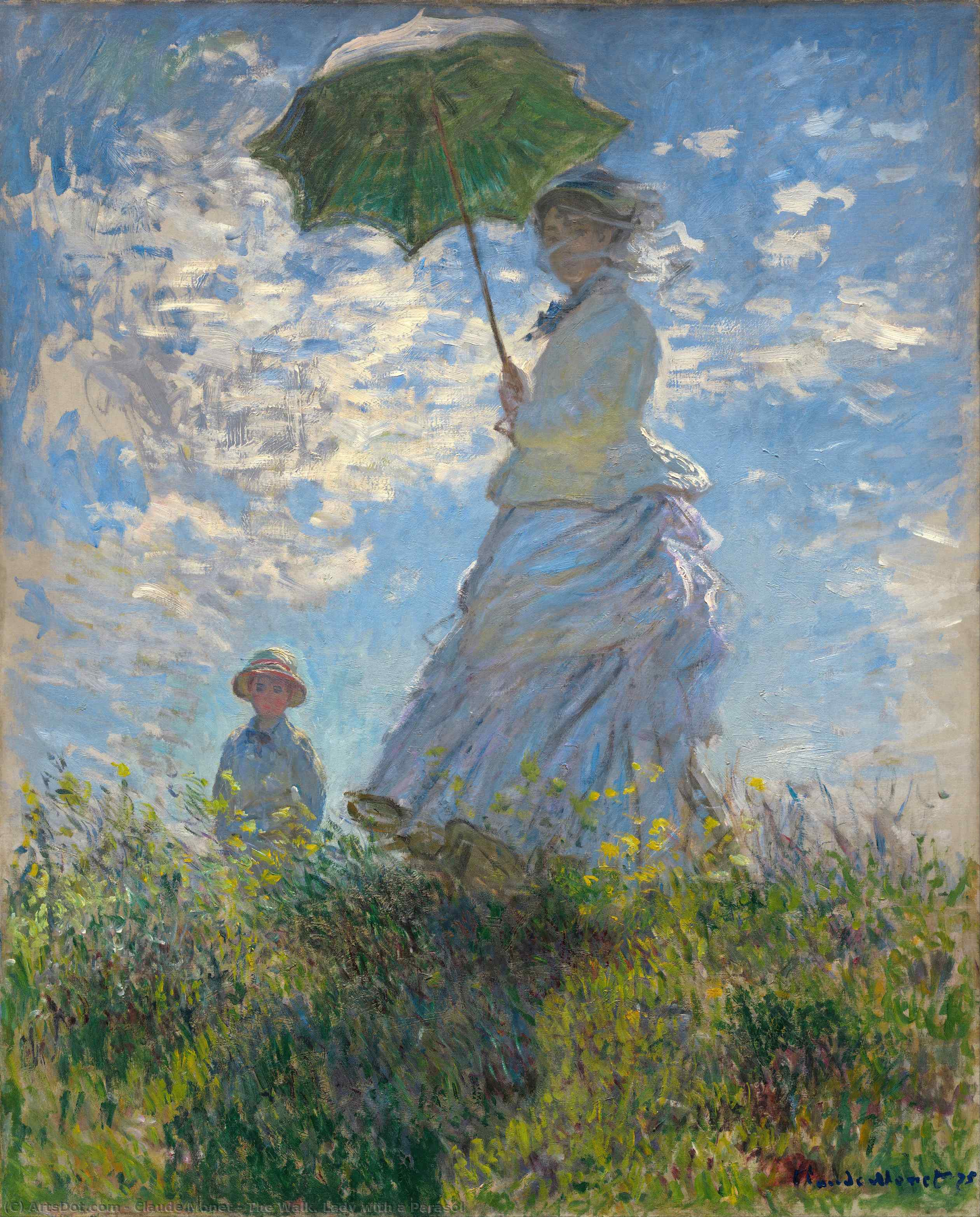The Walk. Lady with a Parasol - Claude Monet