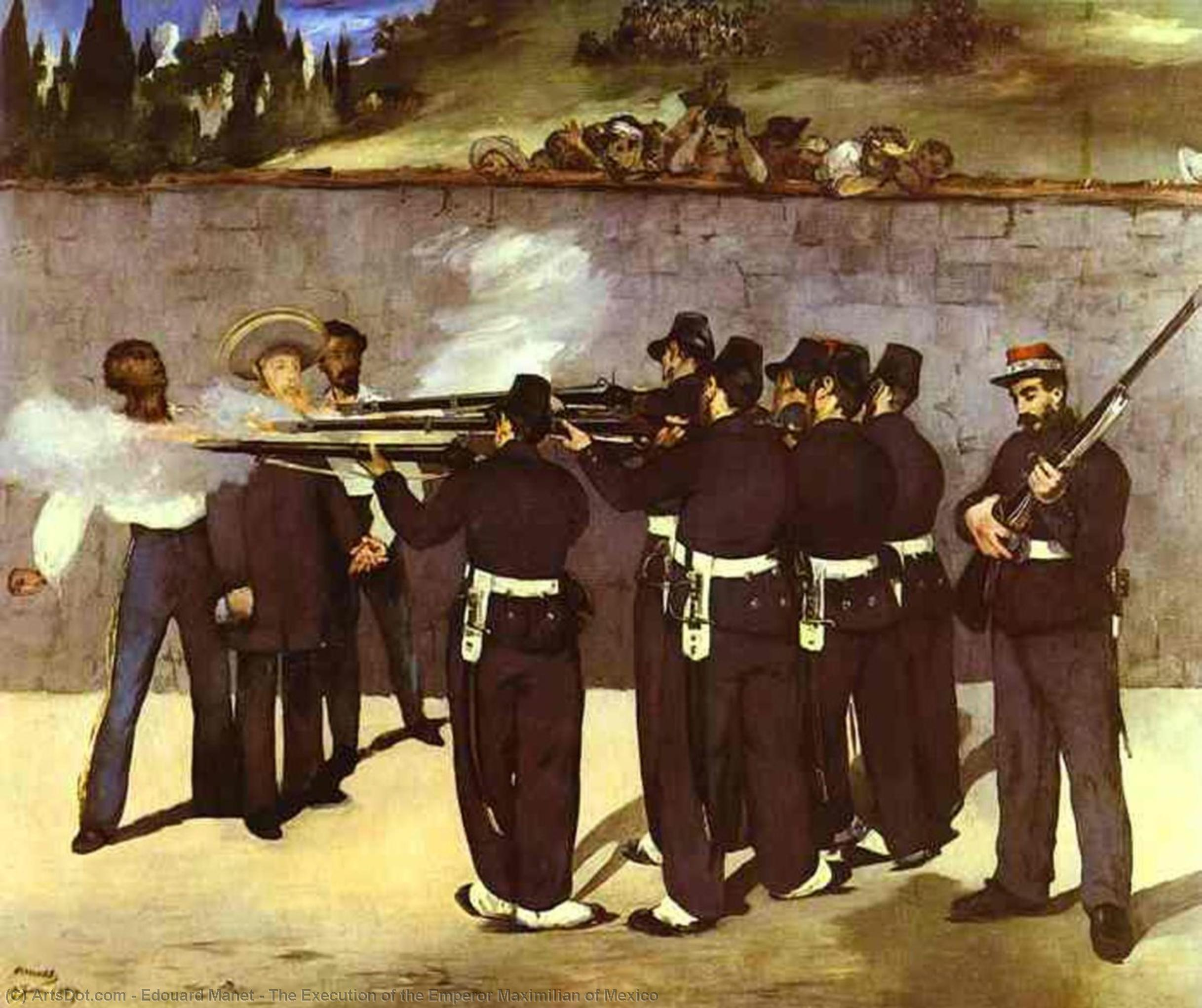 Wikioo.org - The Encyclopedia of Fine Arts - Painting, Artwork by Edouard Manet - The Execution of the Emperor Maximilian of Mexico