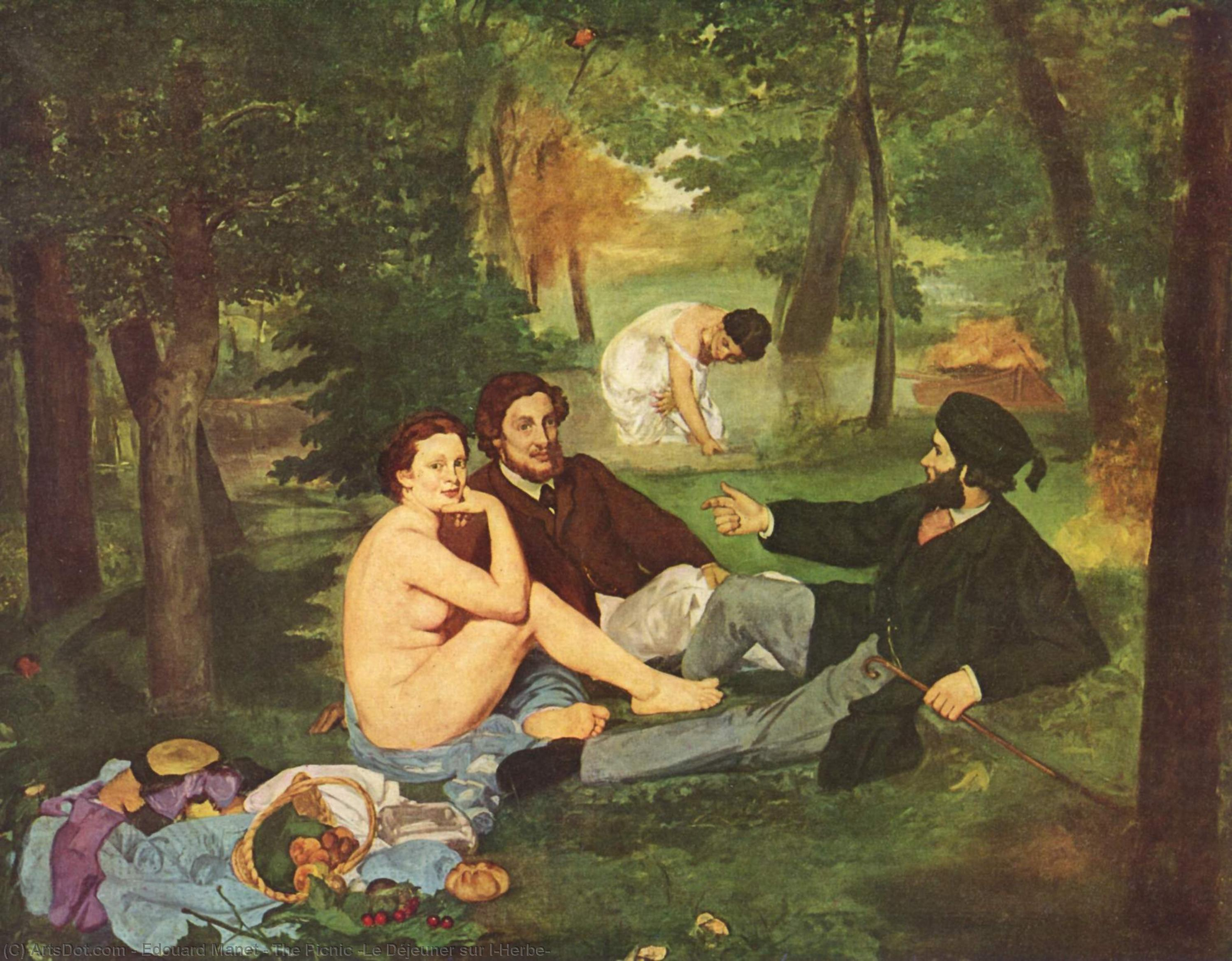 Wikioo.org - The Encyclopedia of Fine Arts - Painting, Artwork by Edouard Manet - The Picnic (Le Déjeuner sur l'Herbe)