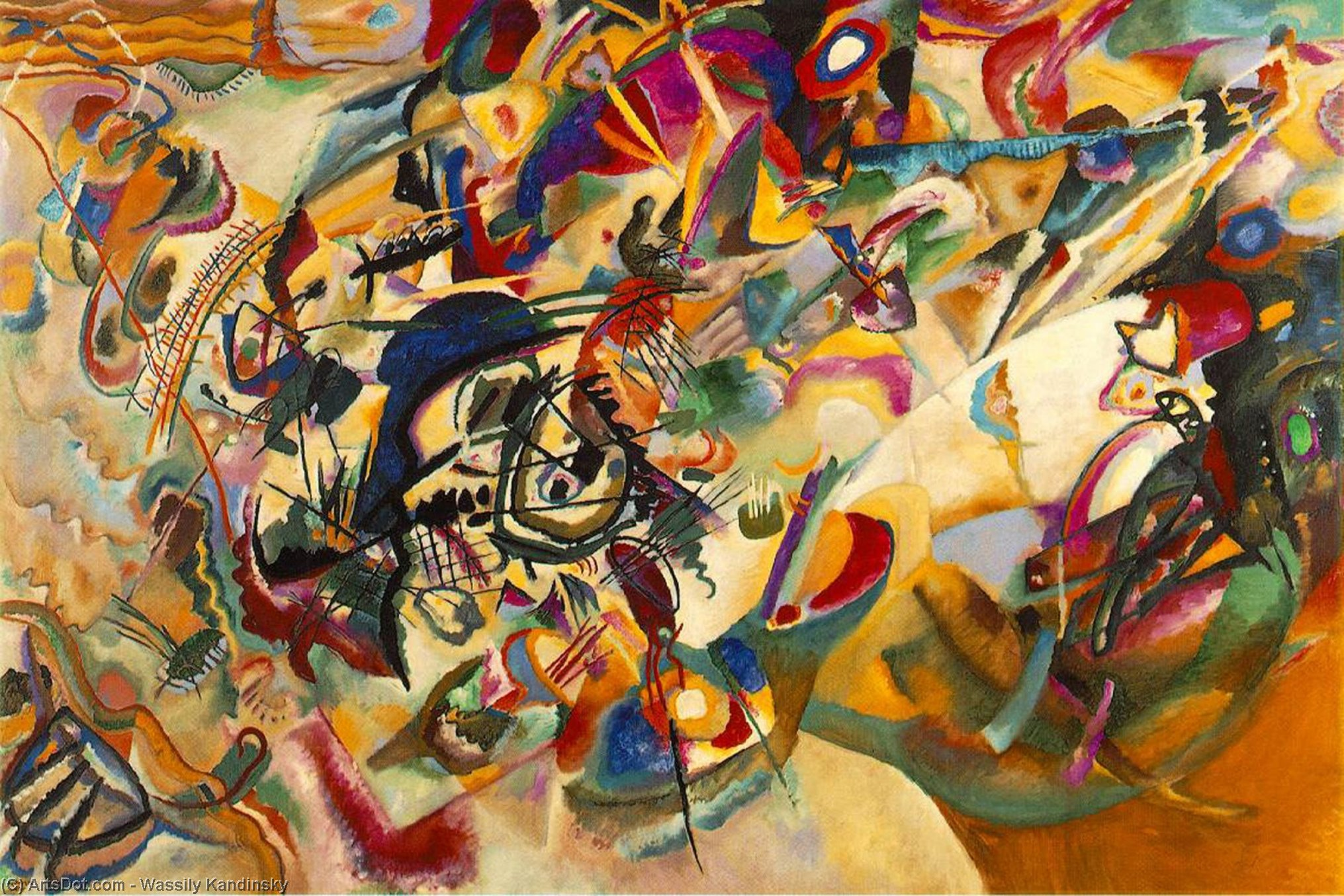 Wikioo.org - The Encyclopedia of Fine Arts - Painting, Artwork by Wassily Kandinsky - Composition VII