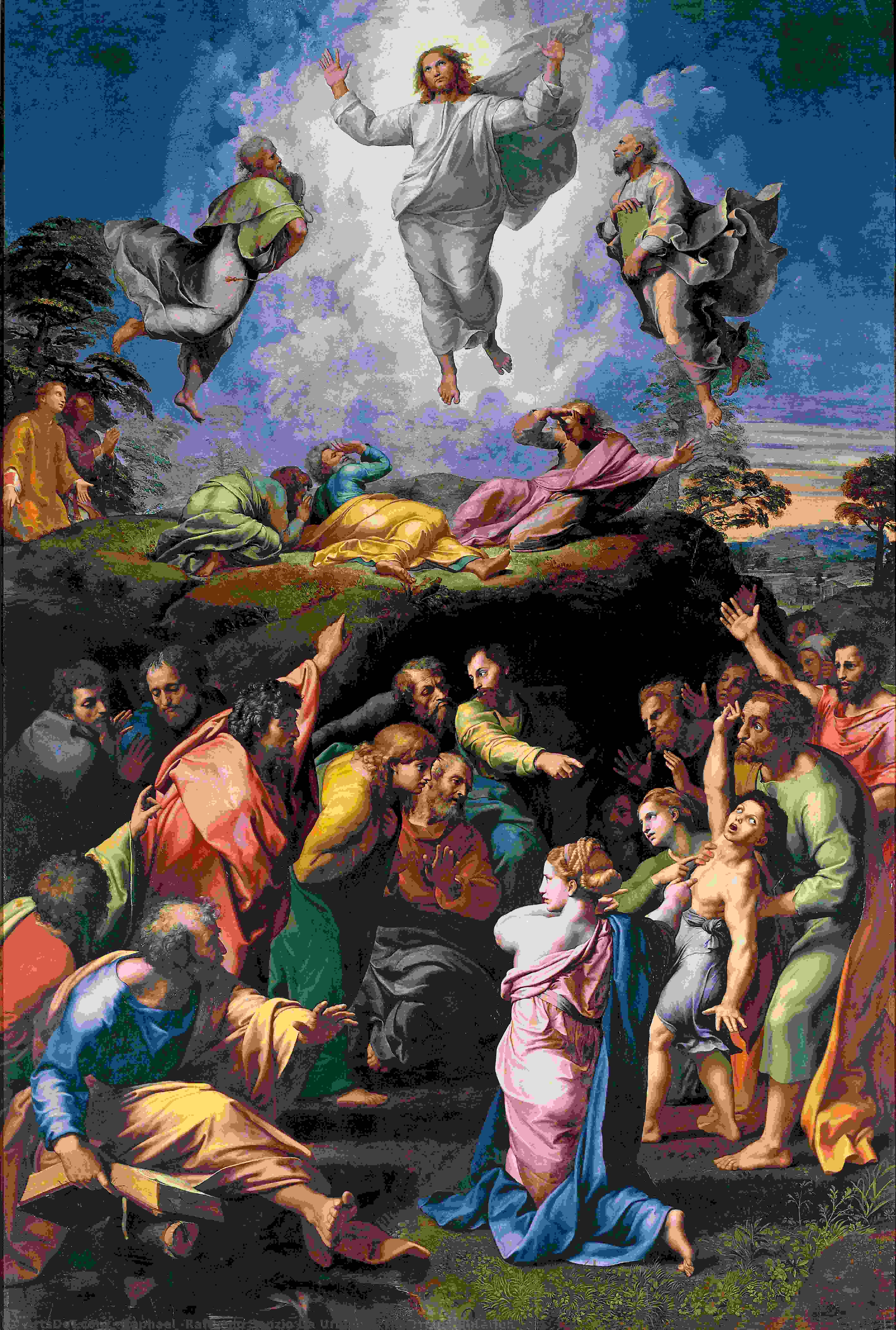 Wikioo.org - The Encyclopedia of Fine Arts - Painting, Artwork by Raphael (Raffaello Sanzio Da Urbino) - The Transfiguration