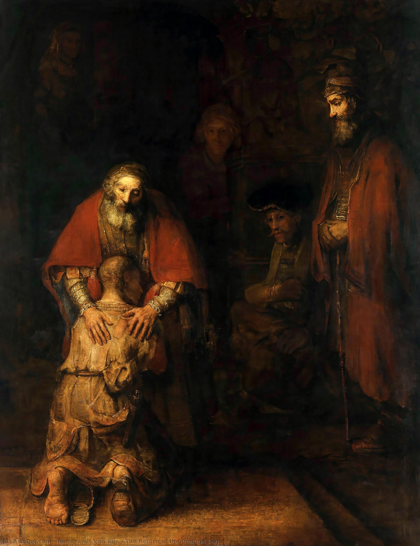 Wikioo.org – L'Enciclopedia delle Belle Arti - Pittura, Opere di Rembrandt Van Rijn - il ritorno del figliol prodigo