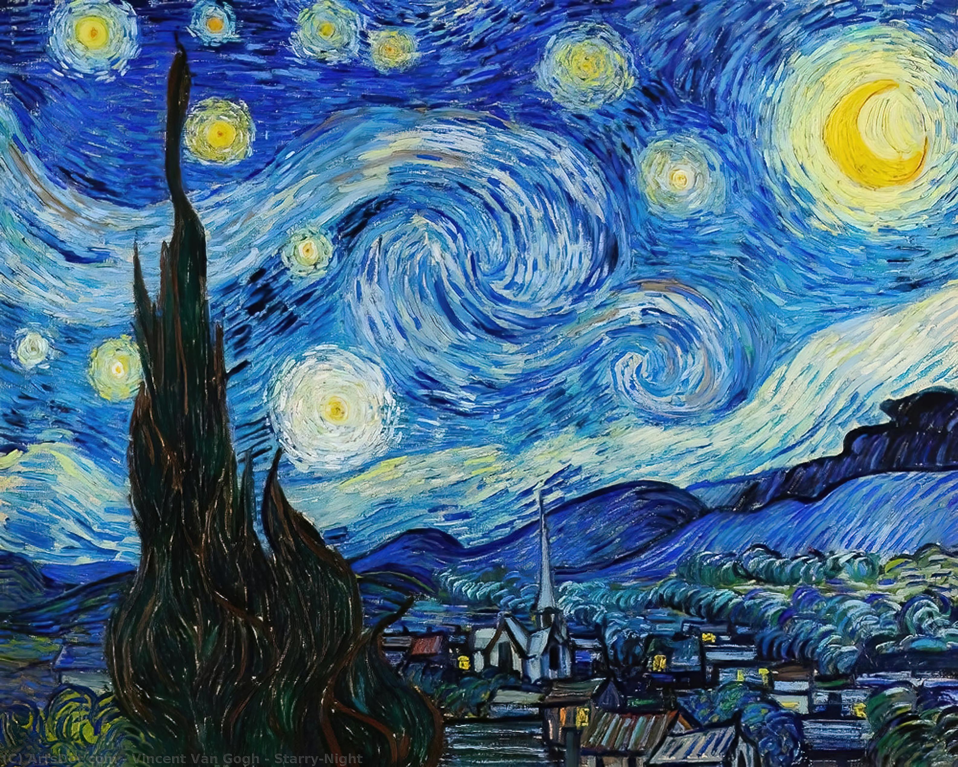 Starry-Night - Vincent Van Gogh