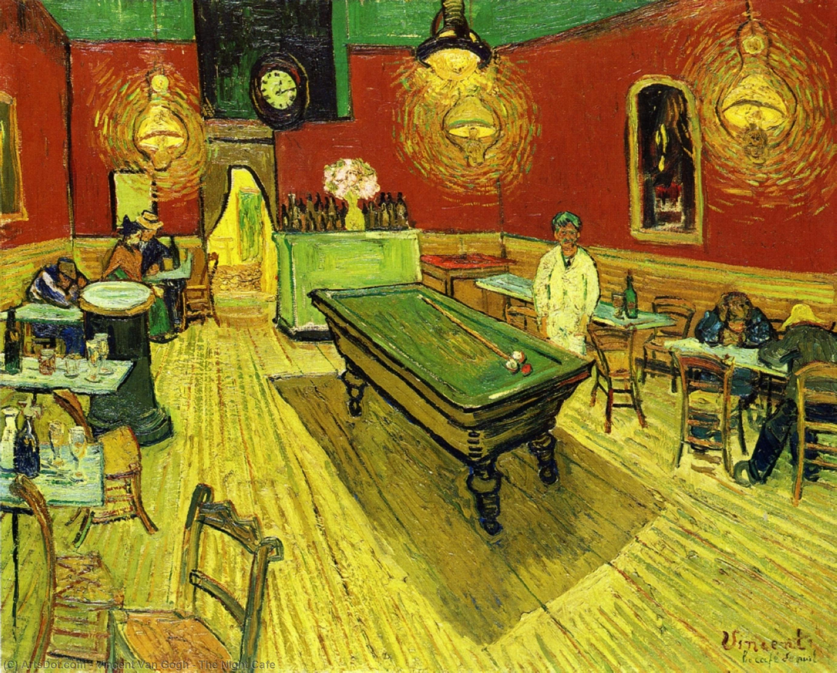 Wikioo.org - The Encyclopedia of Fine Arts - Painting, Artwork by Vincent Van Gogh - The Night Cafe