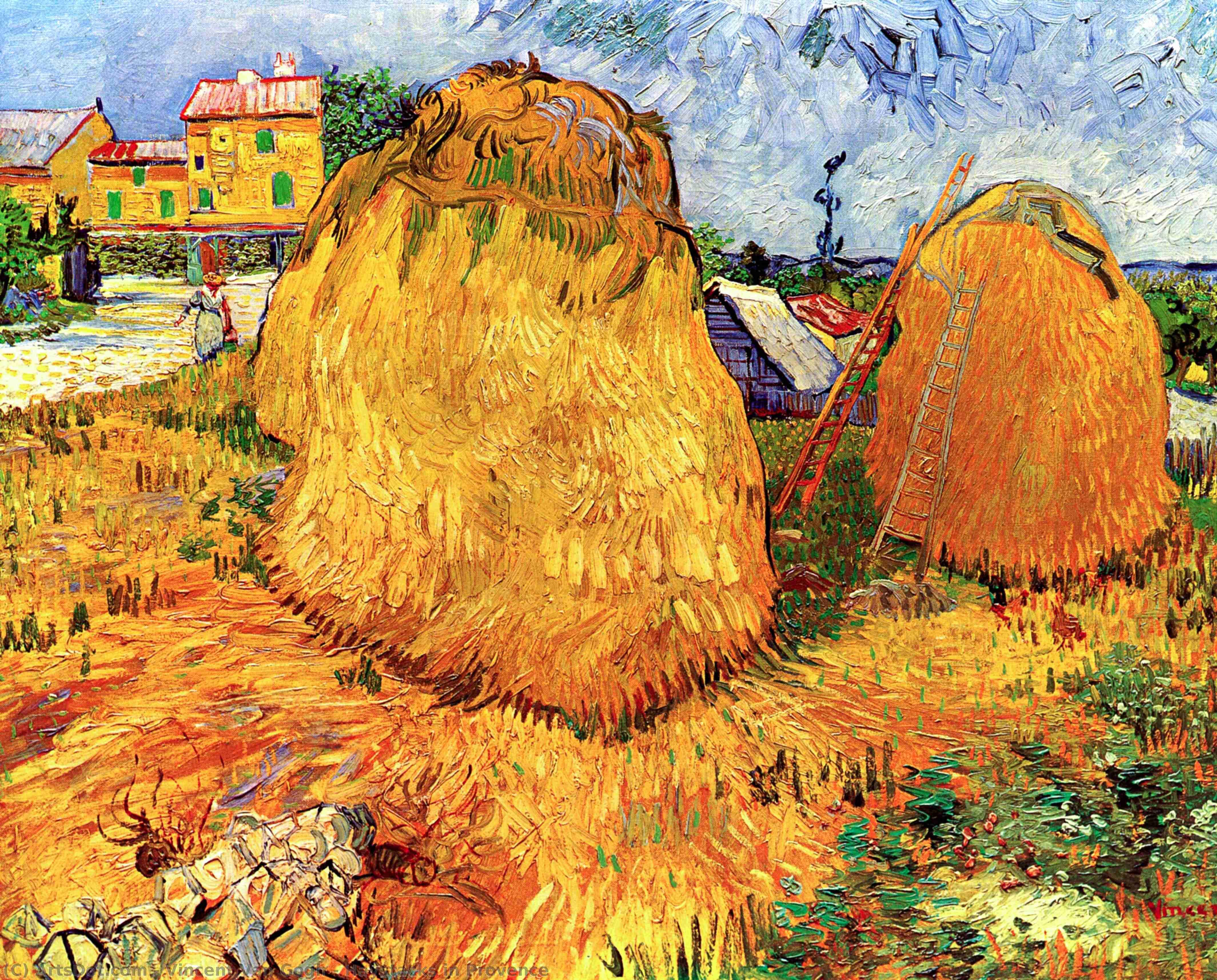 Haystacks in Provence - Vincent Van Gogh