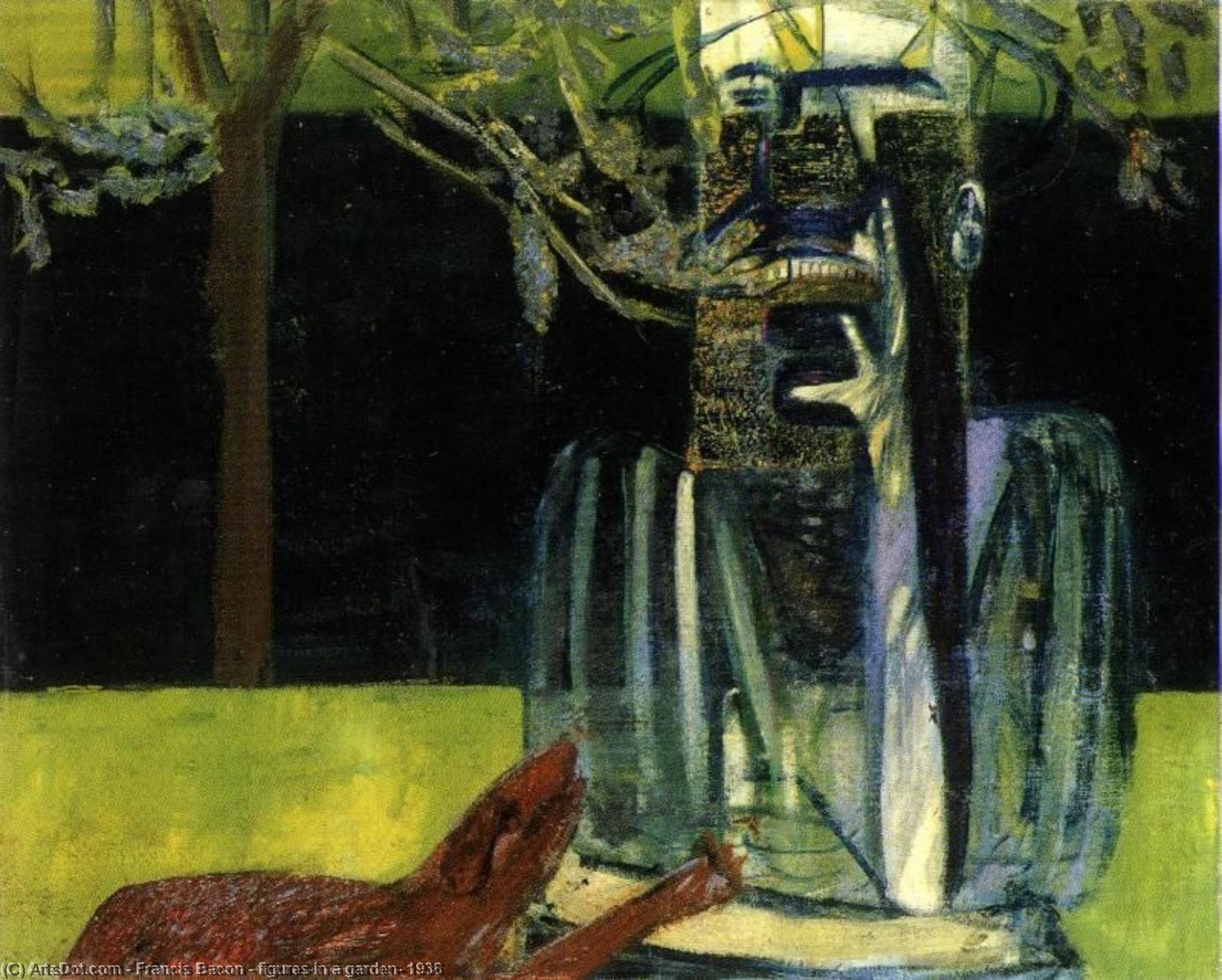 WikiOO.org - Enciclopedia of Fine Arts - Pictura, lucrări de artă Francis Bacon - figures in a garden, 1936
